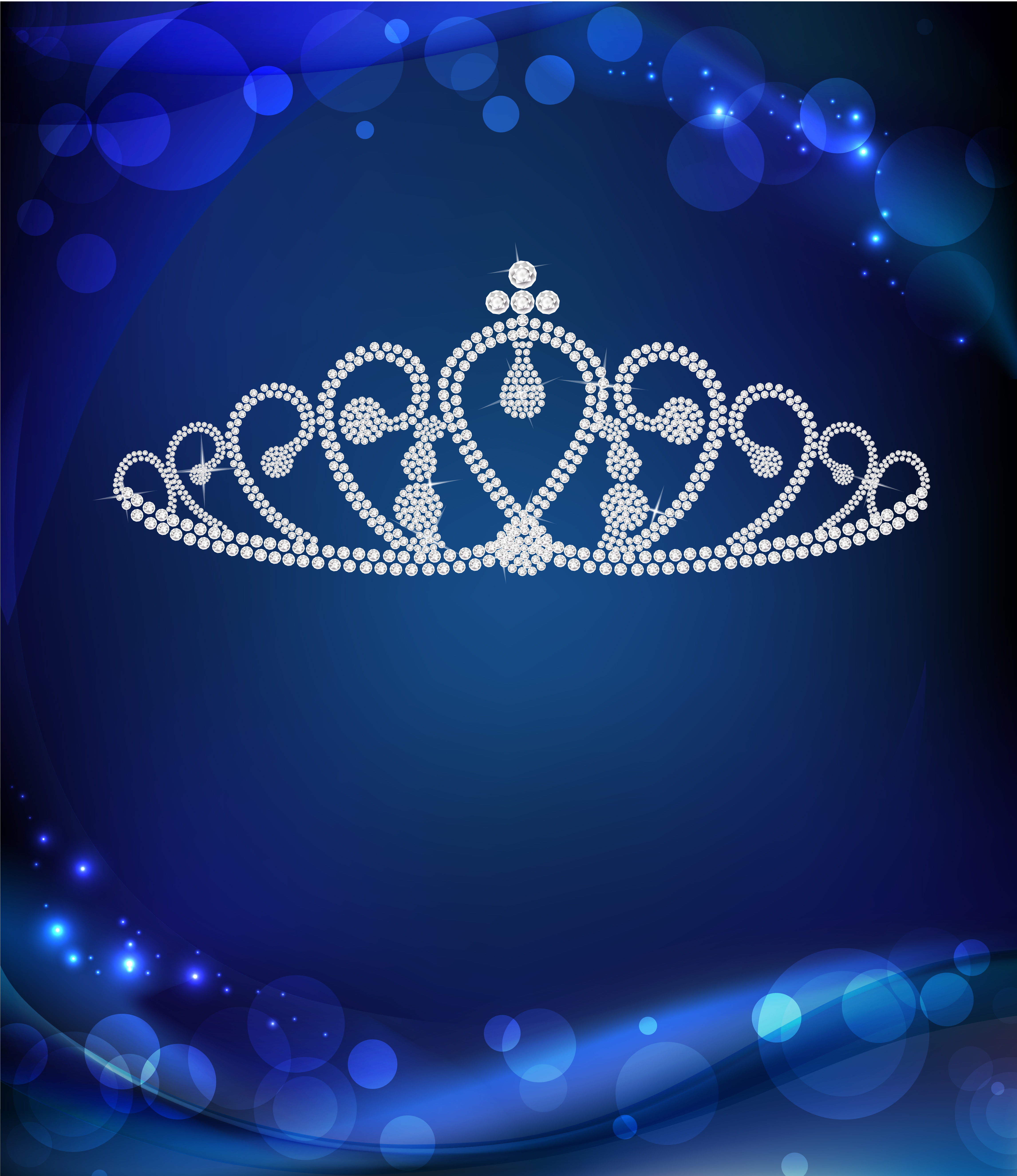 Crown Blue Fantasy Background Imperial Crown Blue