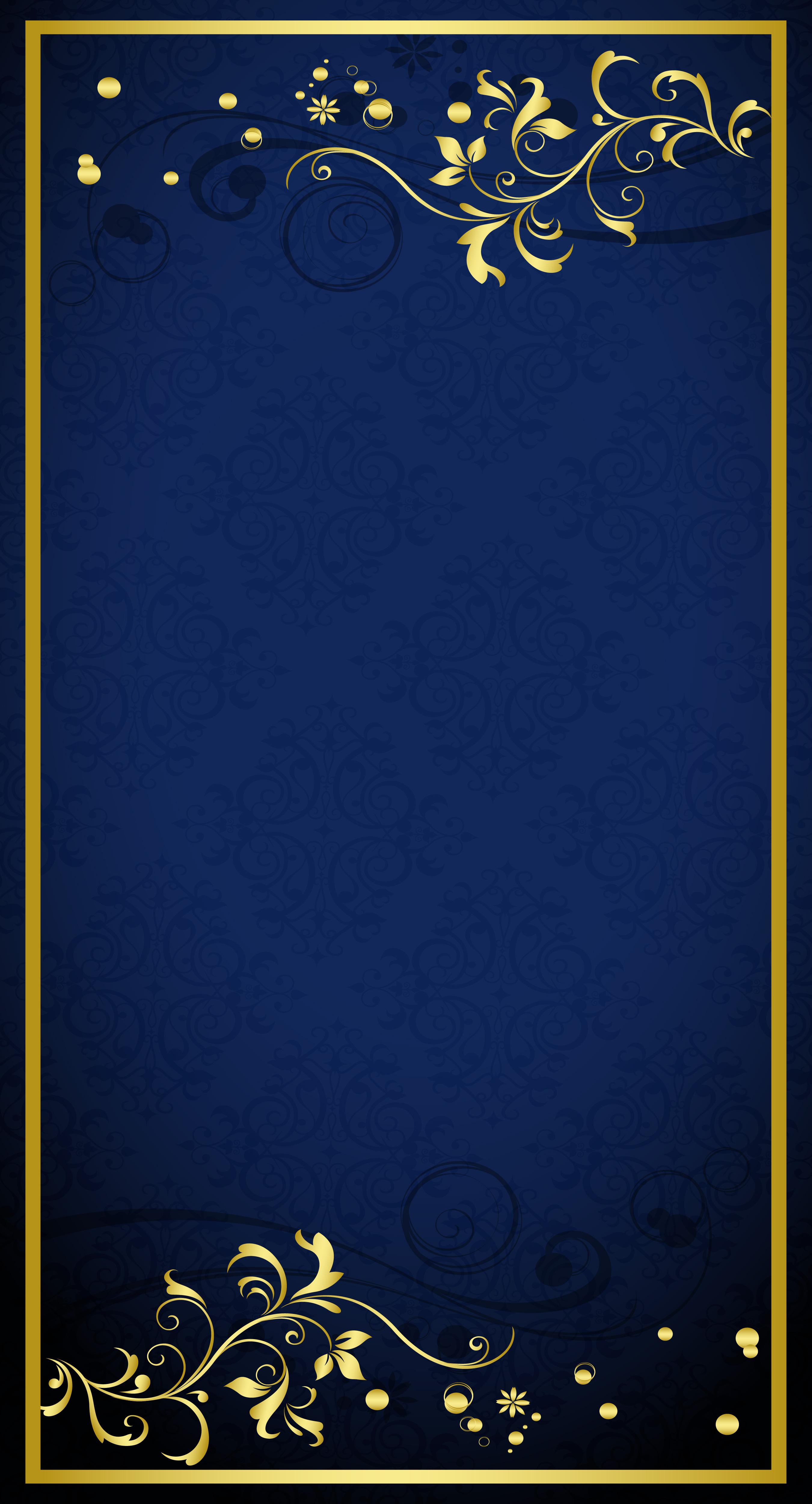 blue gold pattern shading background  golden  flower