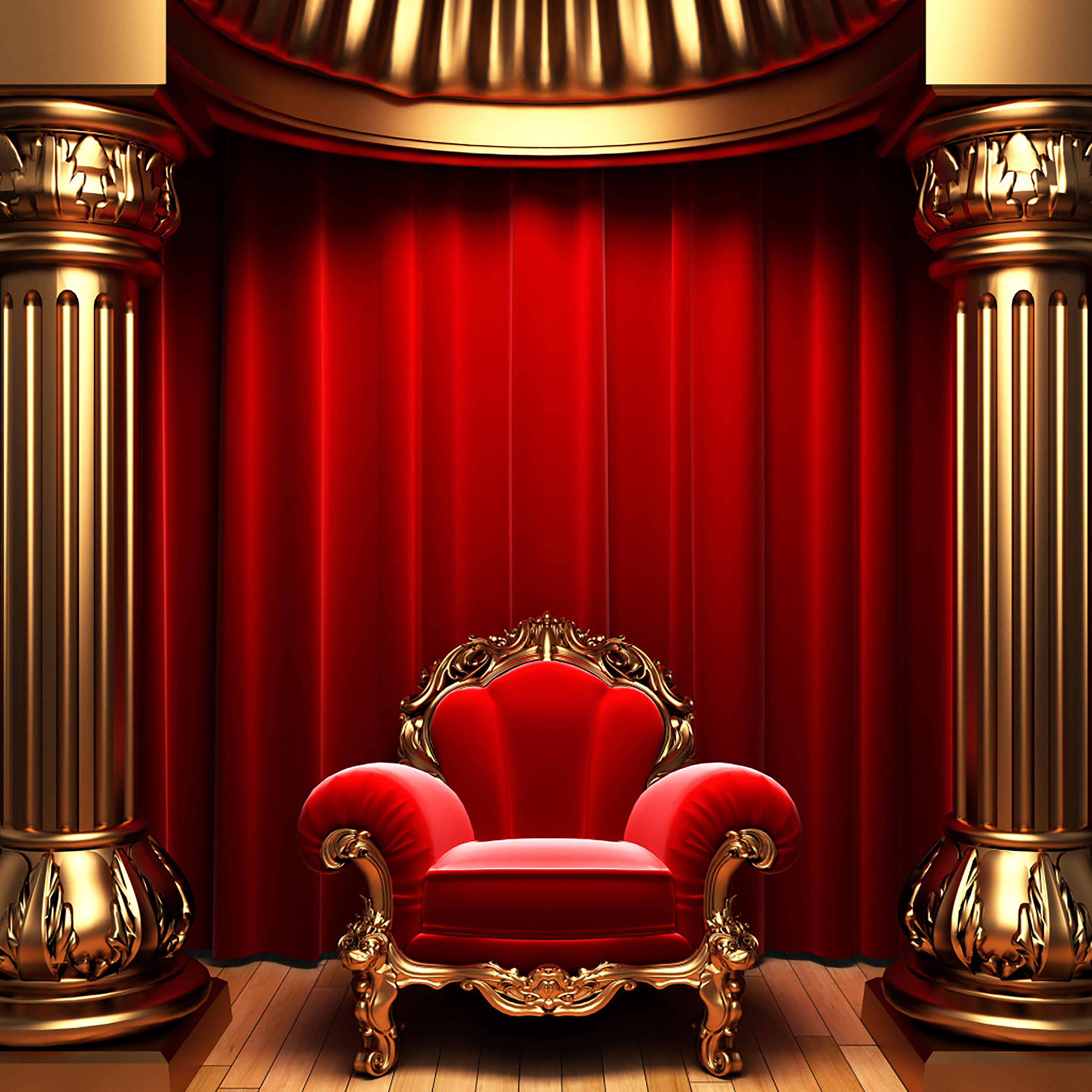 telon de teatro cortina ciego trono antecedentes silla de