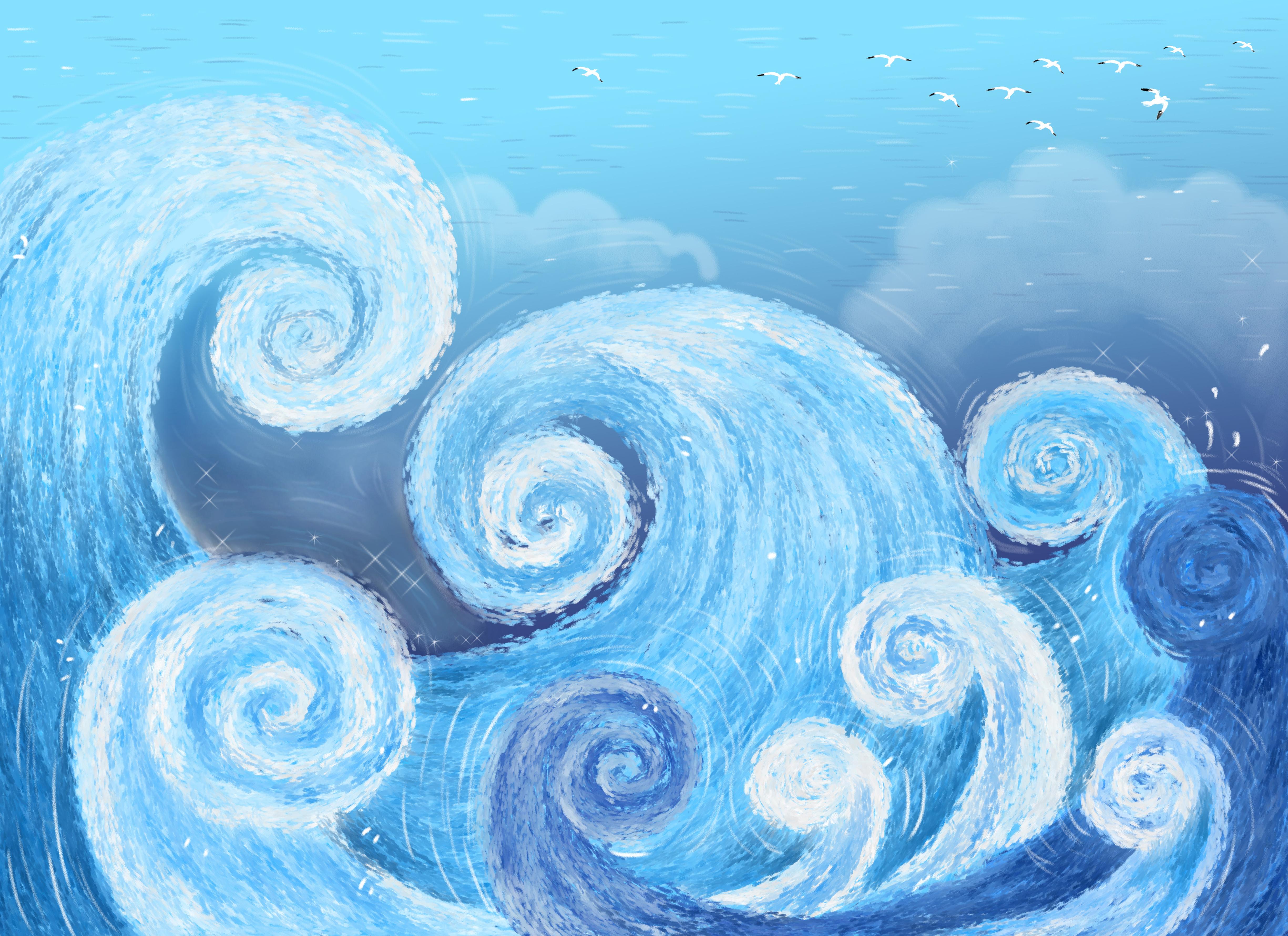 les vagues de dessins anim u00e9s les vagues de la mer dessin