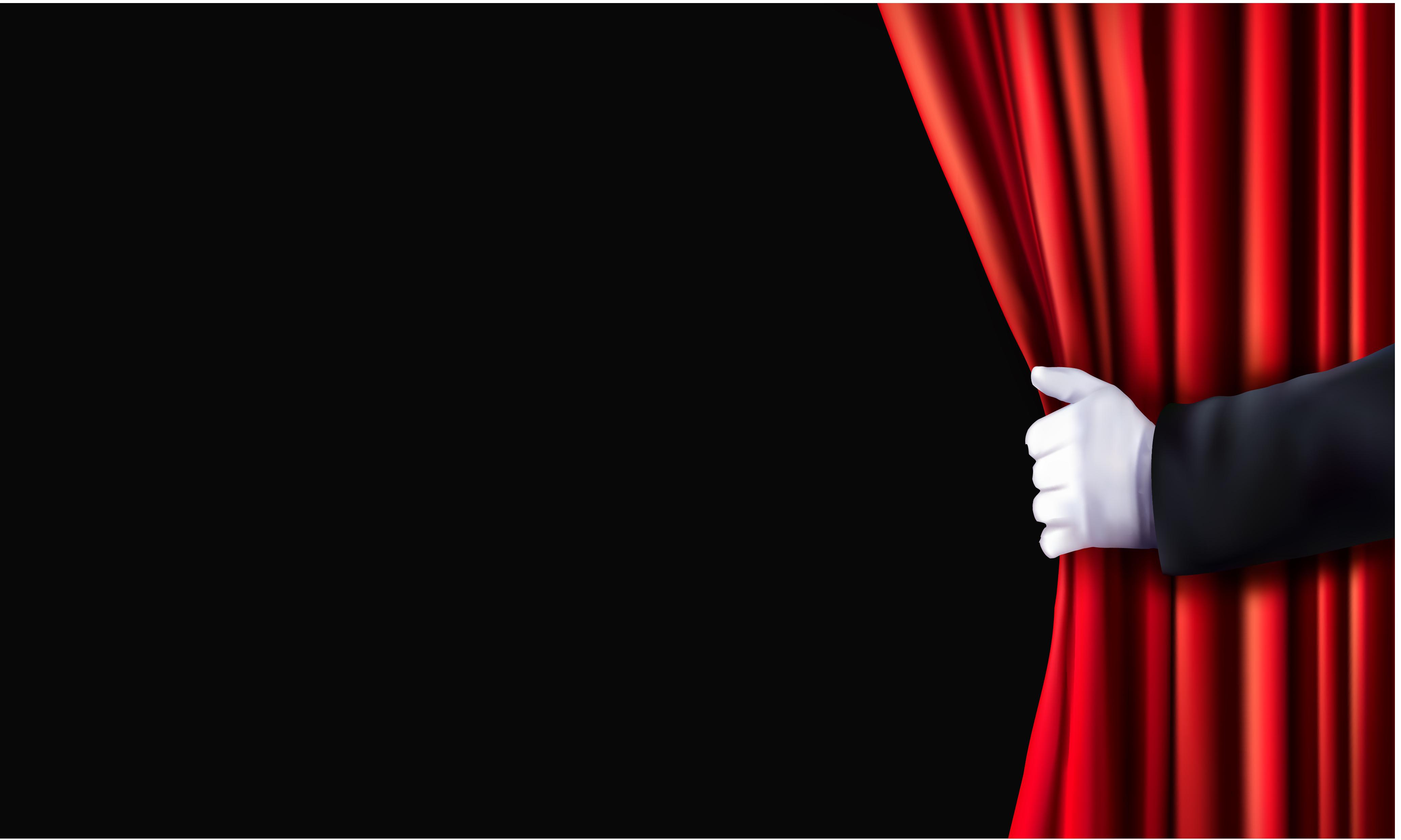 Mc Curtain Black Background, Master, Of, Ceremonies ...