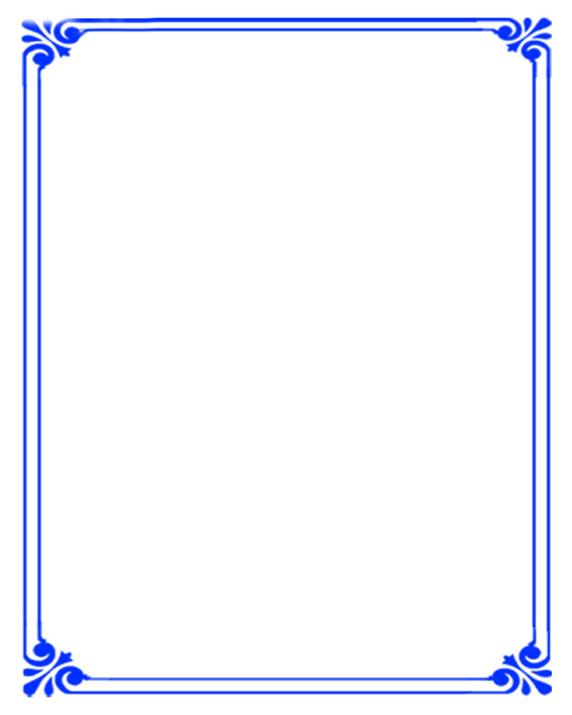 Simple Background Blue Border Simple Frame Border