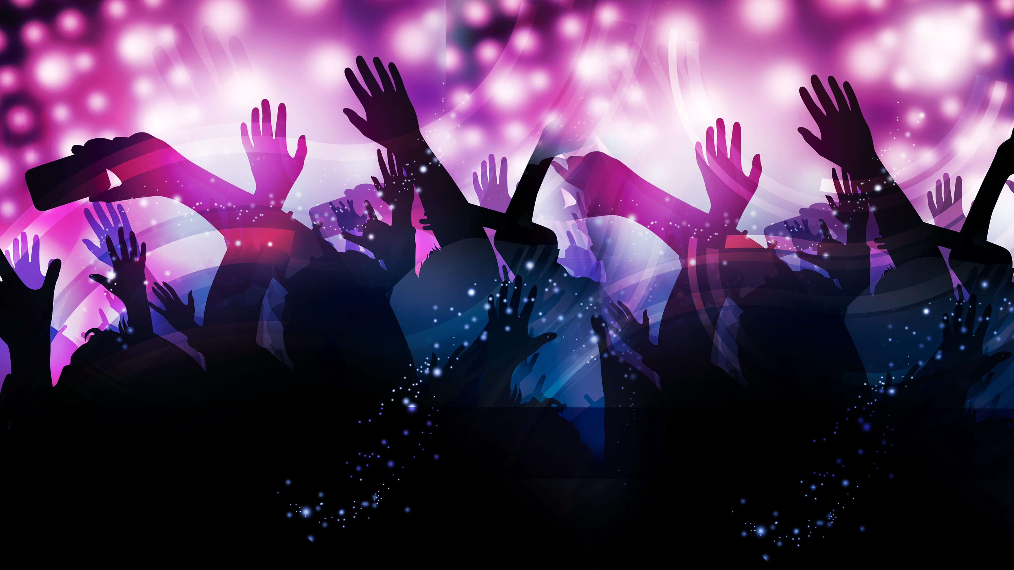 dynamic melody dancing hands advertising background