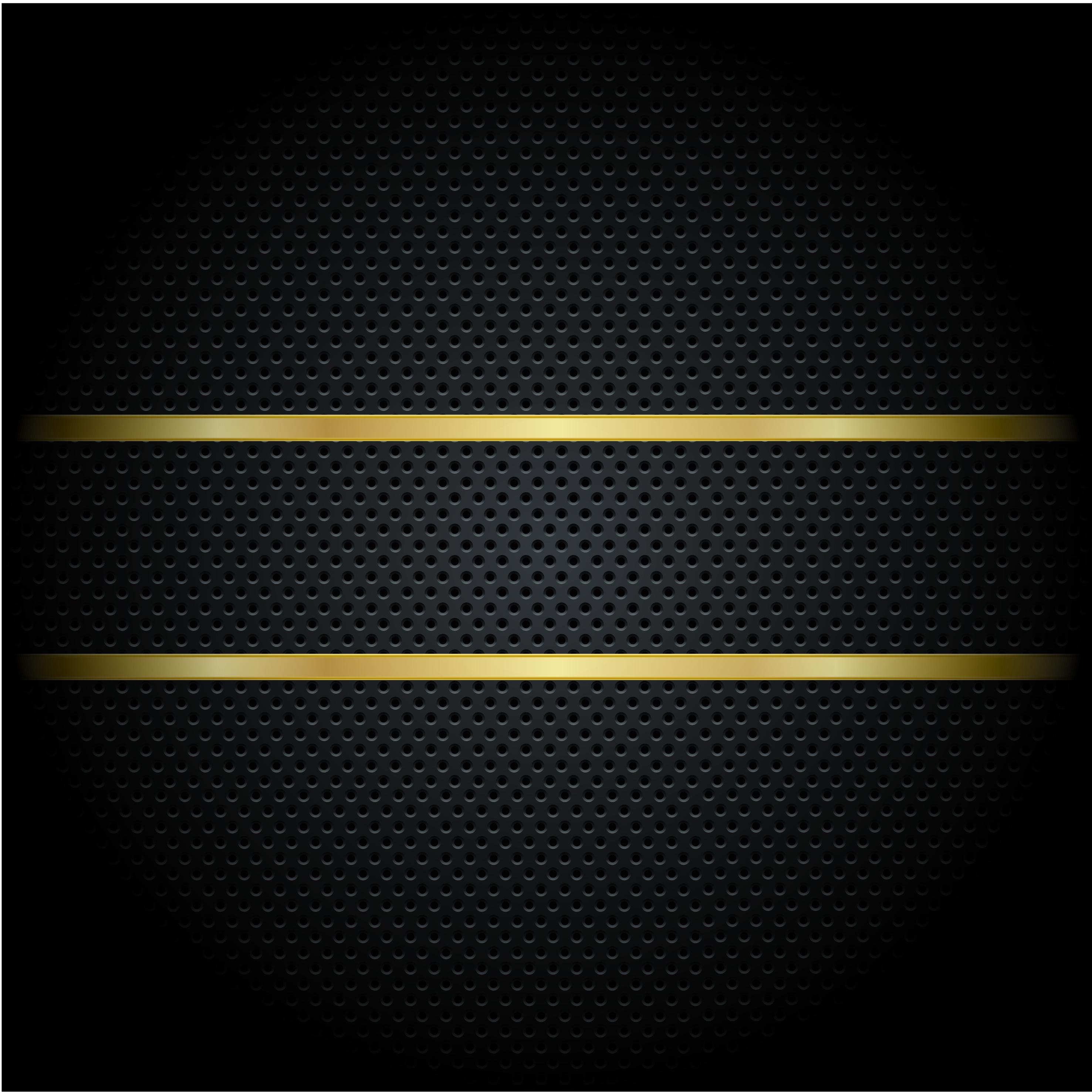 black metal grid golden striped background  black  metal