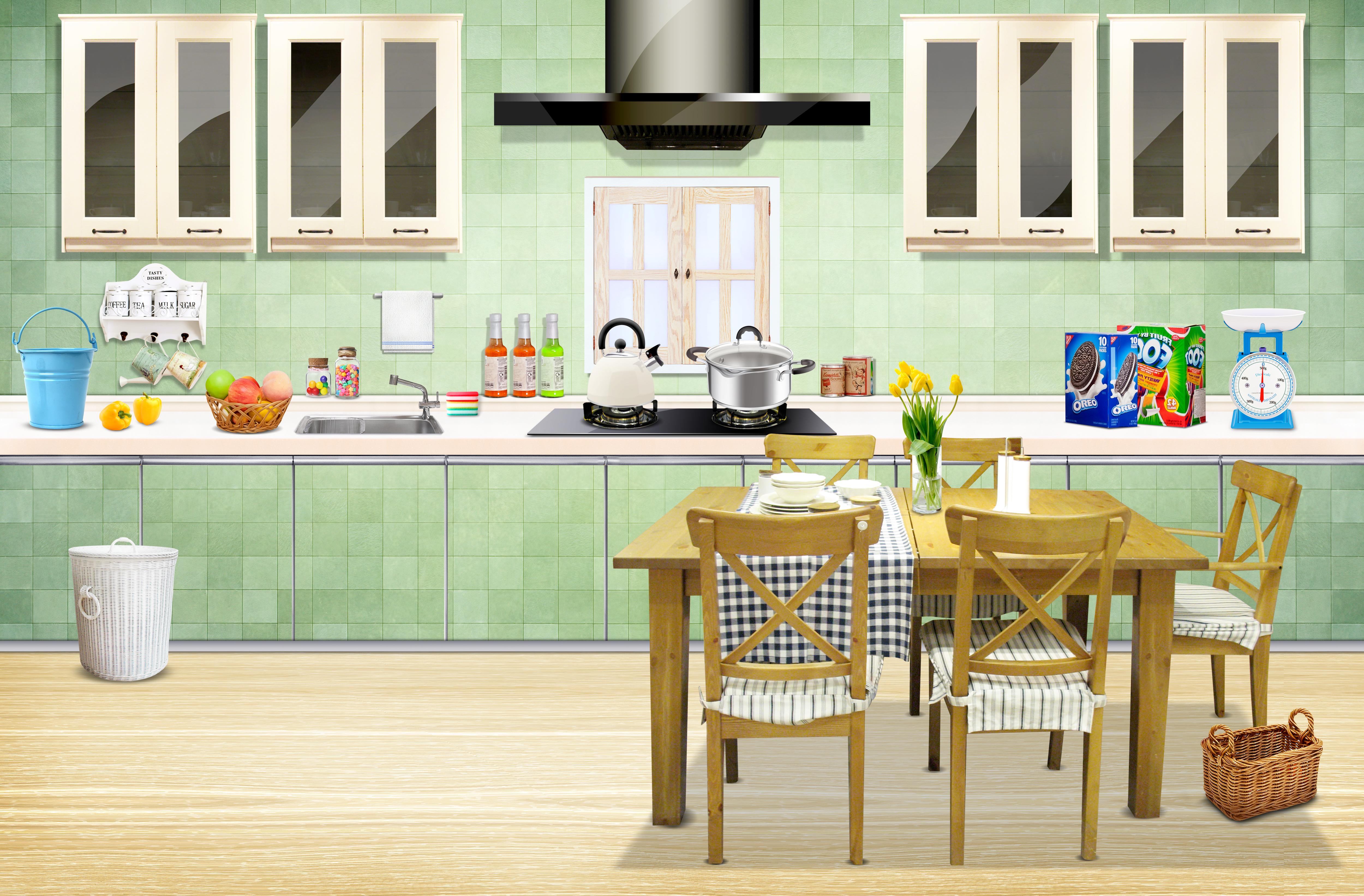 Комната кухня картинки для детей