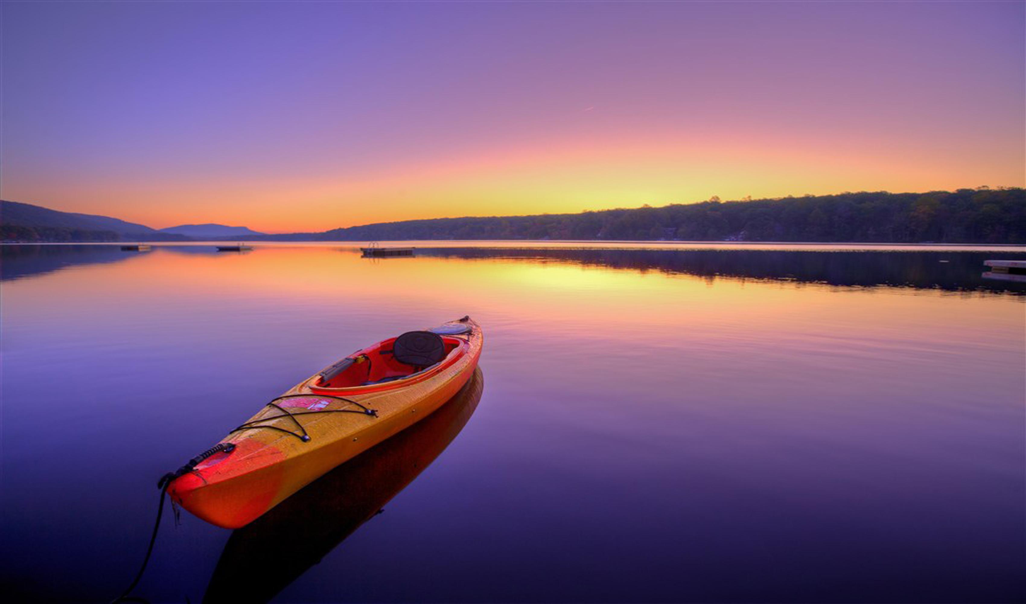 Kayak Canoe Boat Small Boat Background Water Sea Sky