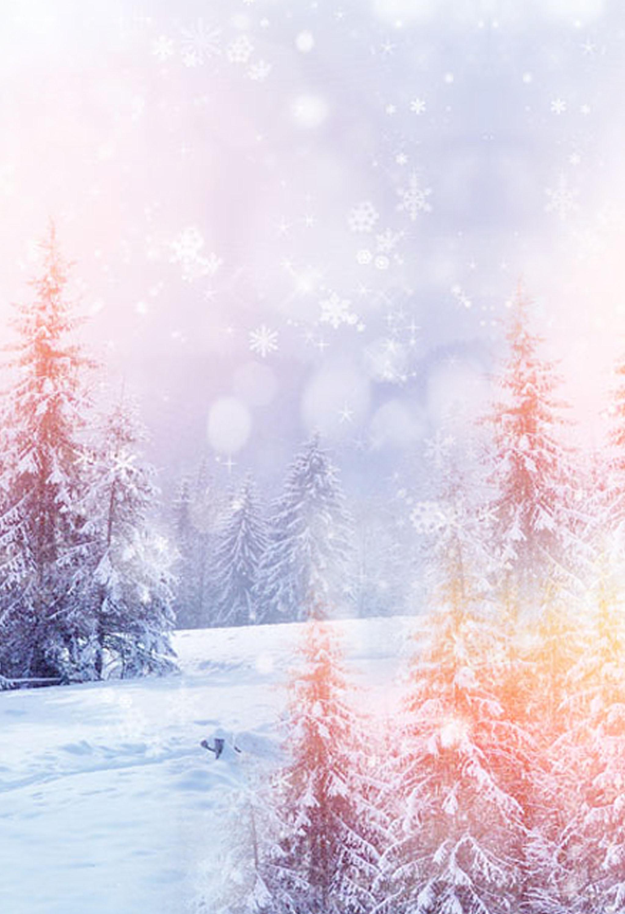 romantic fantasy snowy background  romantic  snow  winter