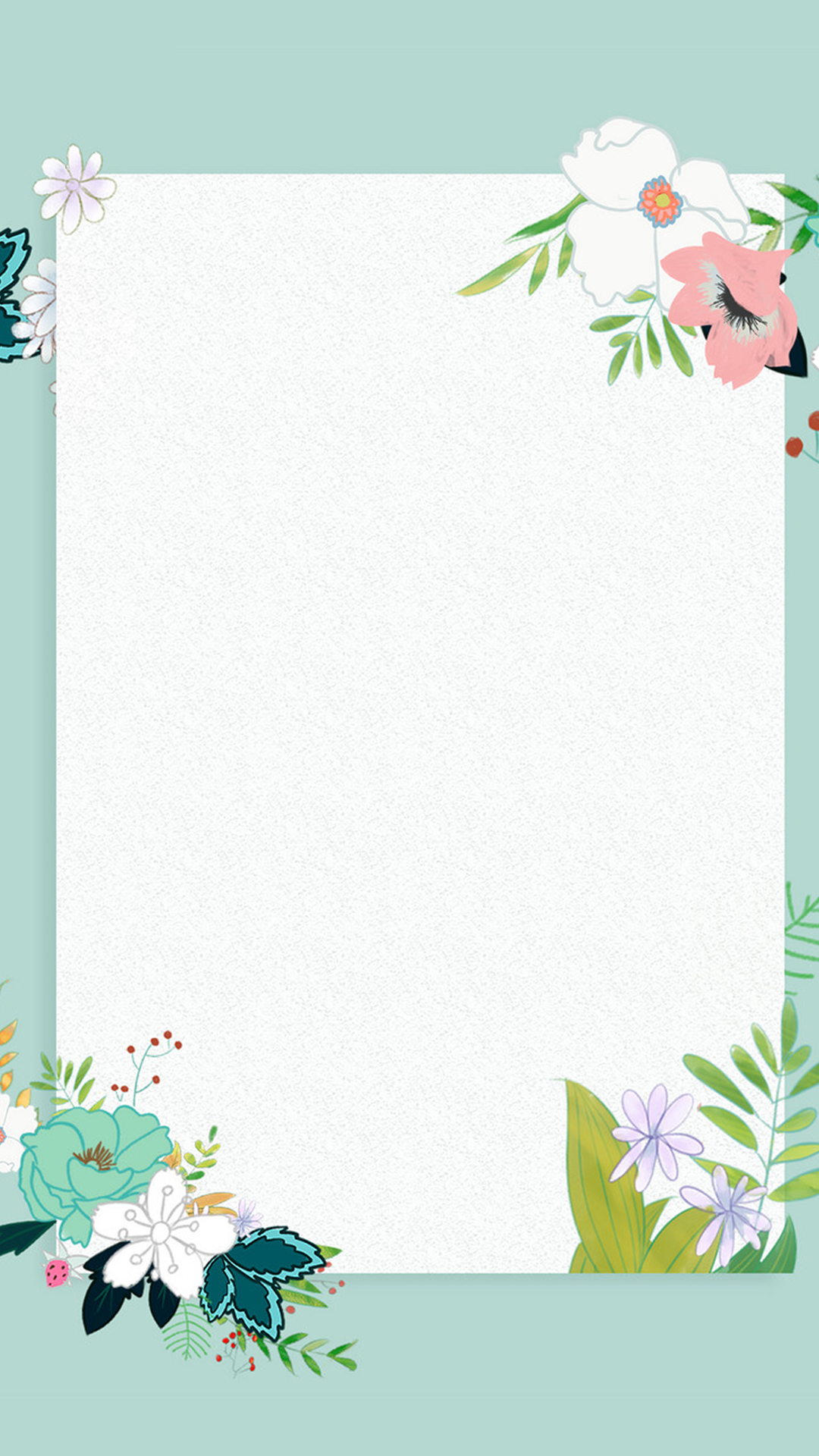 small fresh flower border background h5  flower  border  frame background image for free download