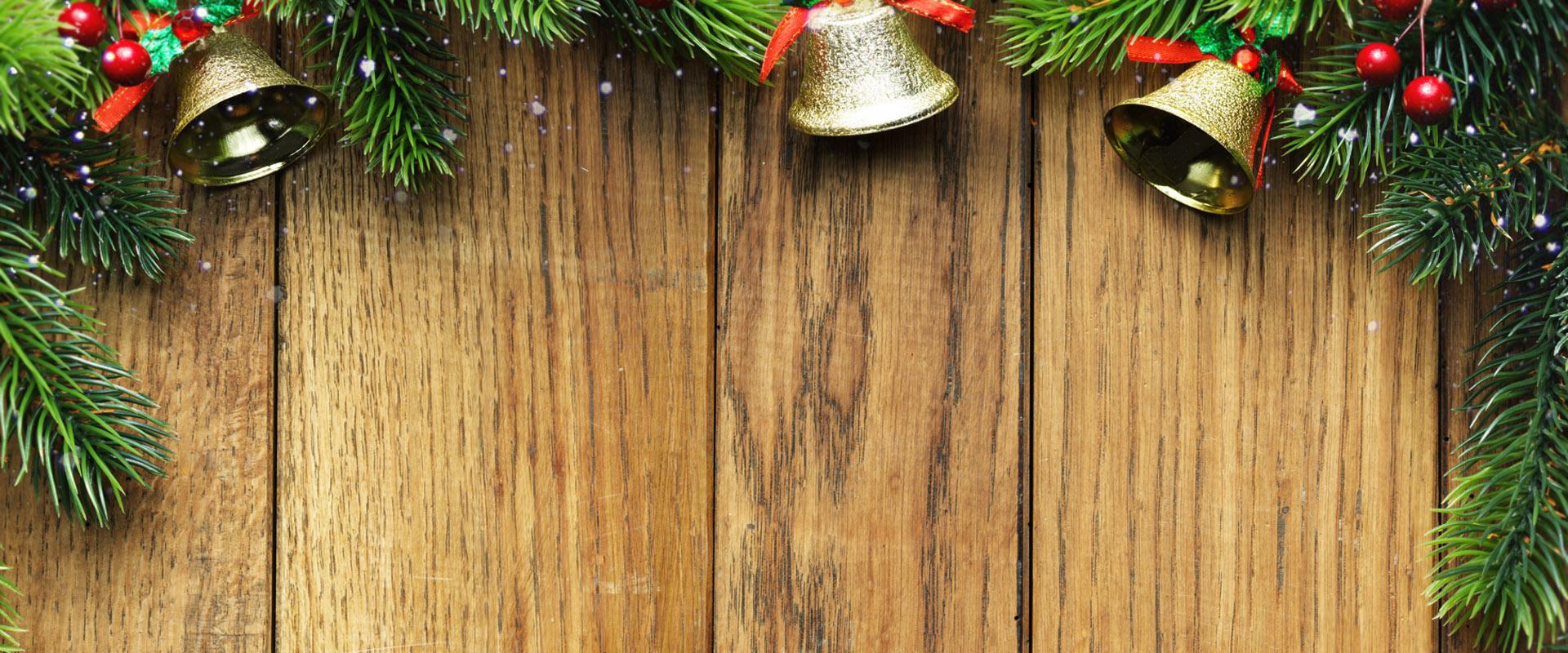 Weihnachts Holz hintergrund, Weihnachten, Kiefer, Glocken ...