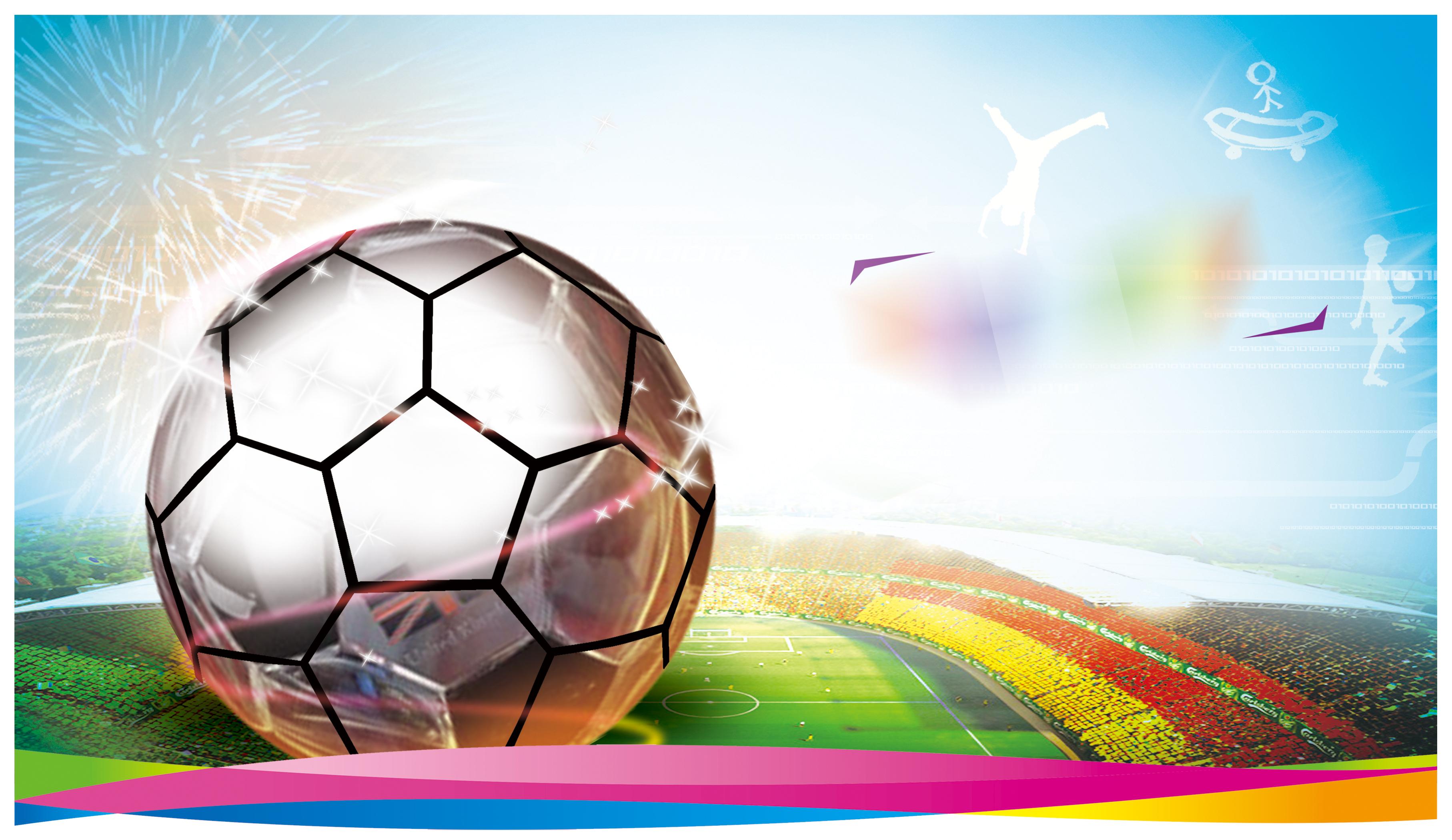Pertandingan sepak bola poster latar belakang Bola Sepak