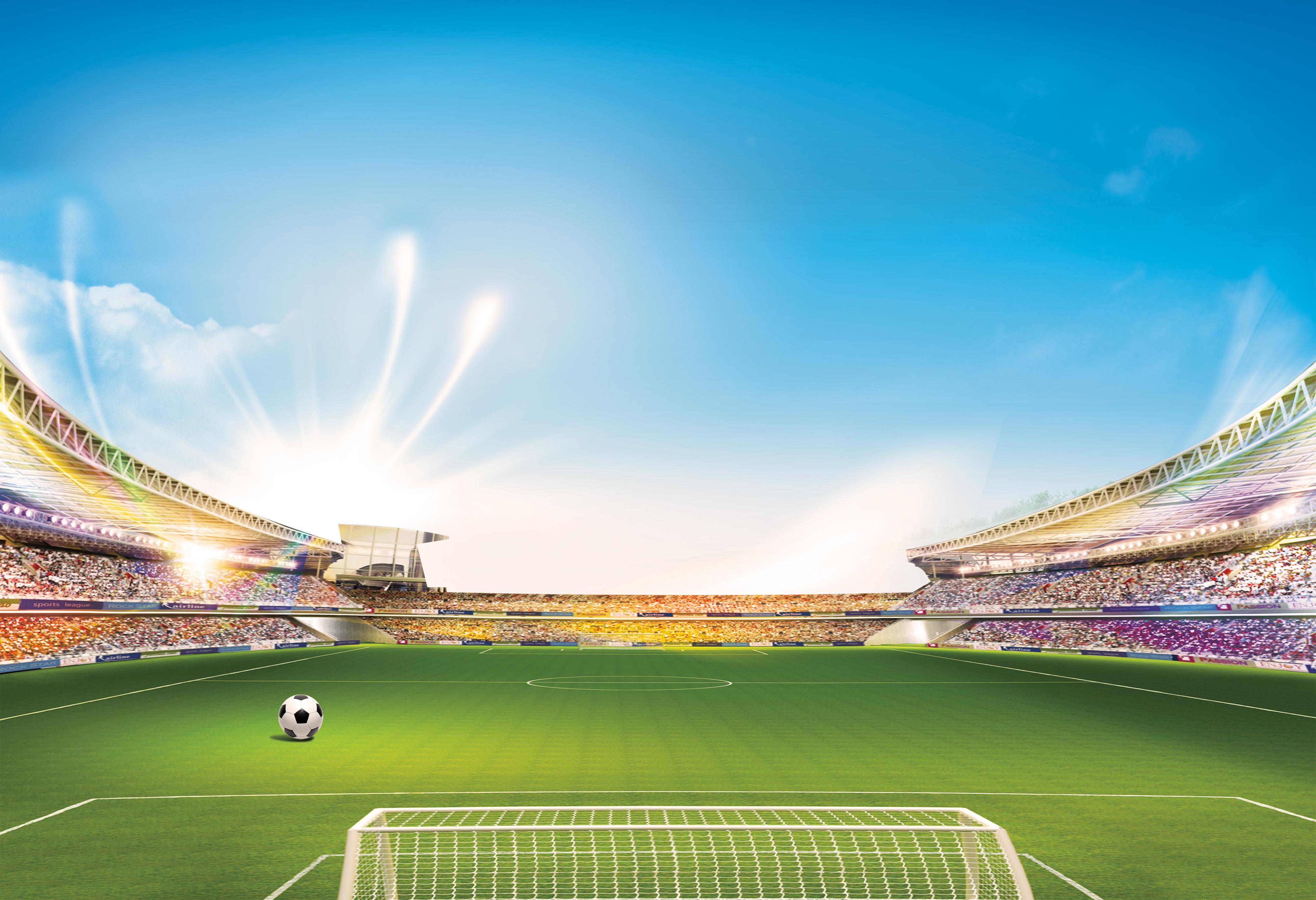 stade de football centre sportif stadium le paysage contexte rural installation de l u0026 39 herbe image