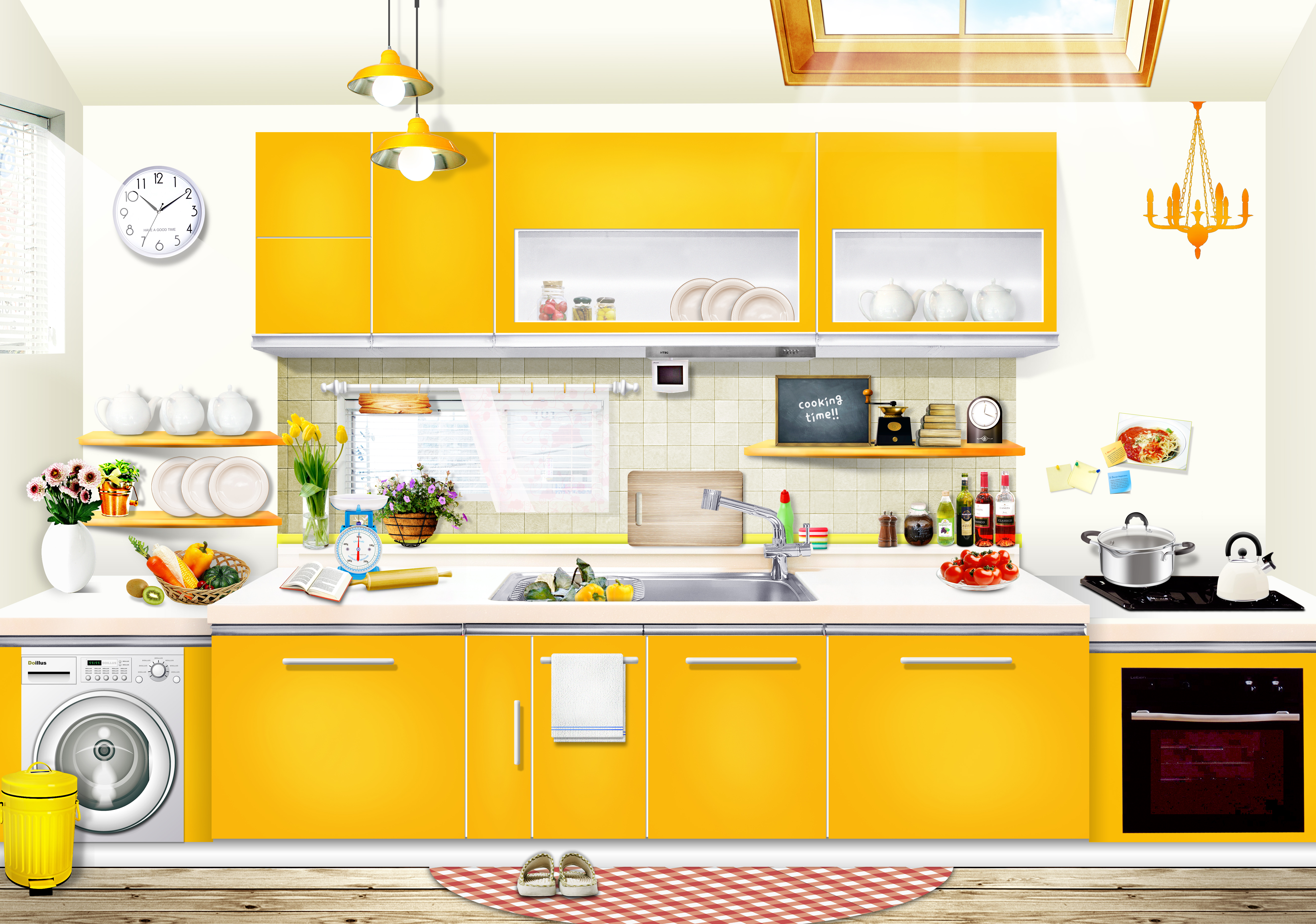 int u00e9rieur les meubles cuisine accueil contexte maison