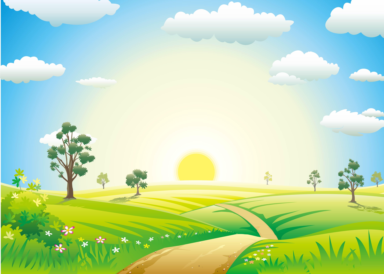 Paisaje cielo meadow grass antecedentes Temporada Campo La Tierra ...