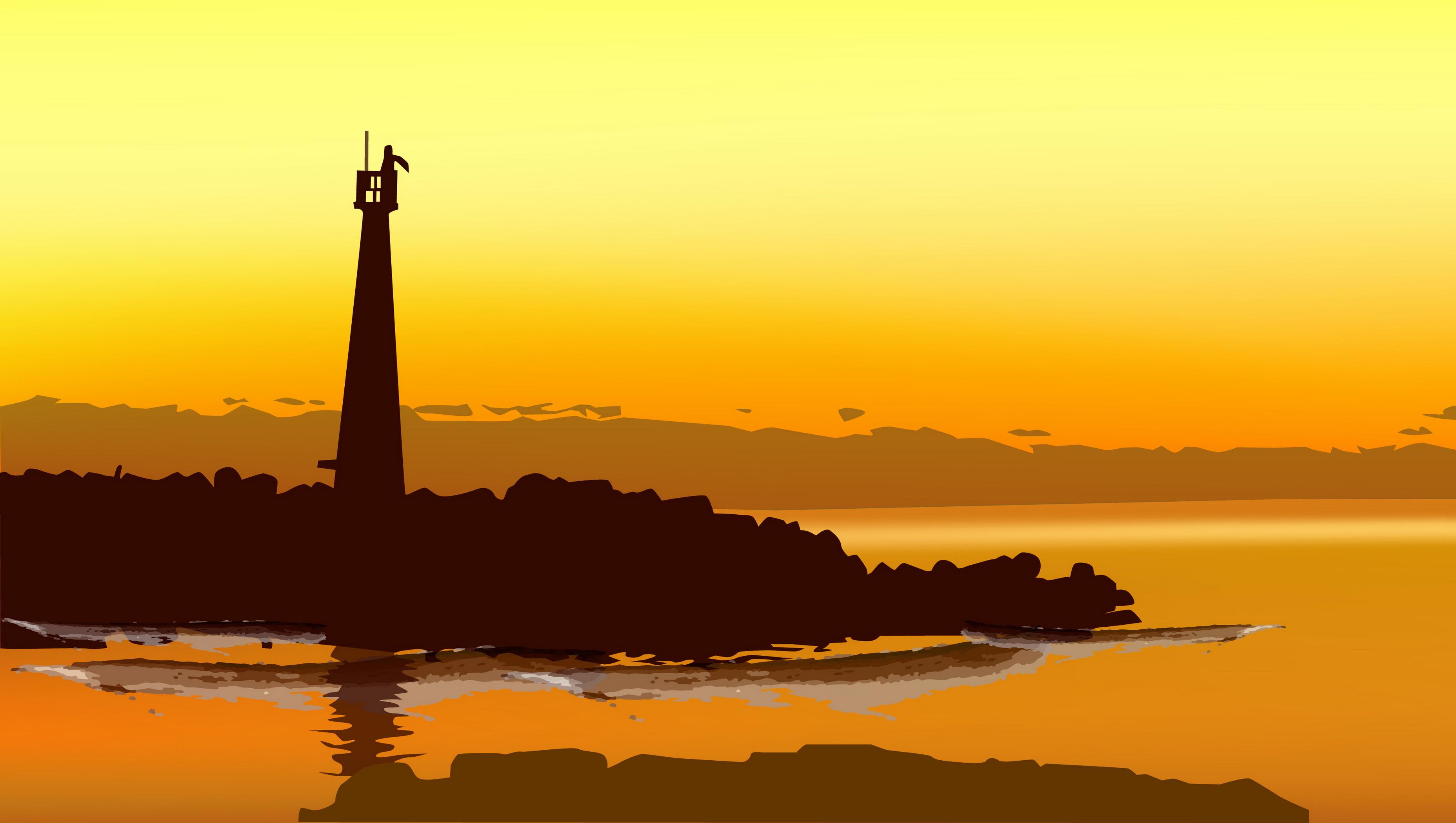 mod u00e8le d arri u00e8re plan de phare de la mer au bord de la mer