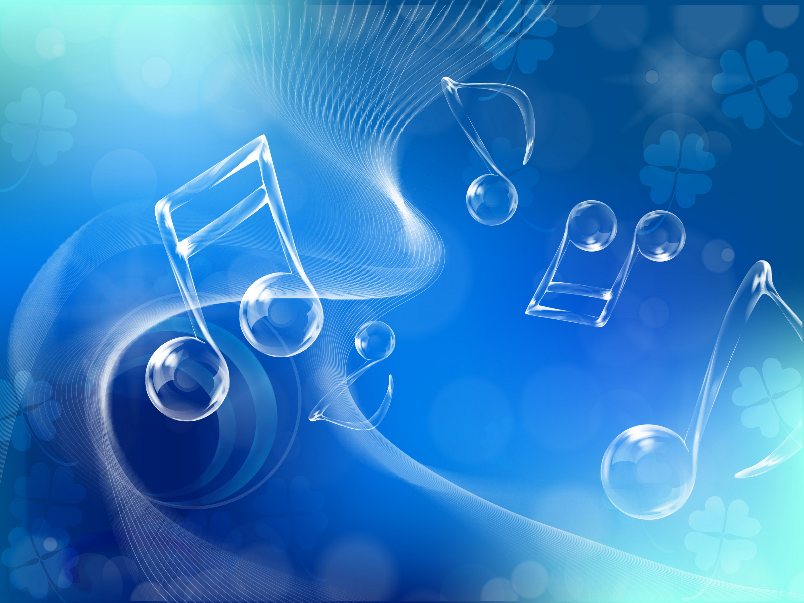 Hd Blue Background Musical Symbol, Blue, Music, Symbol
