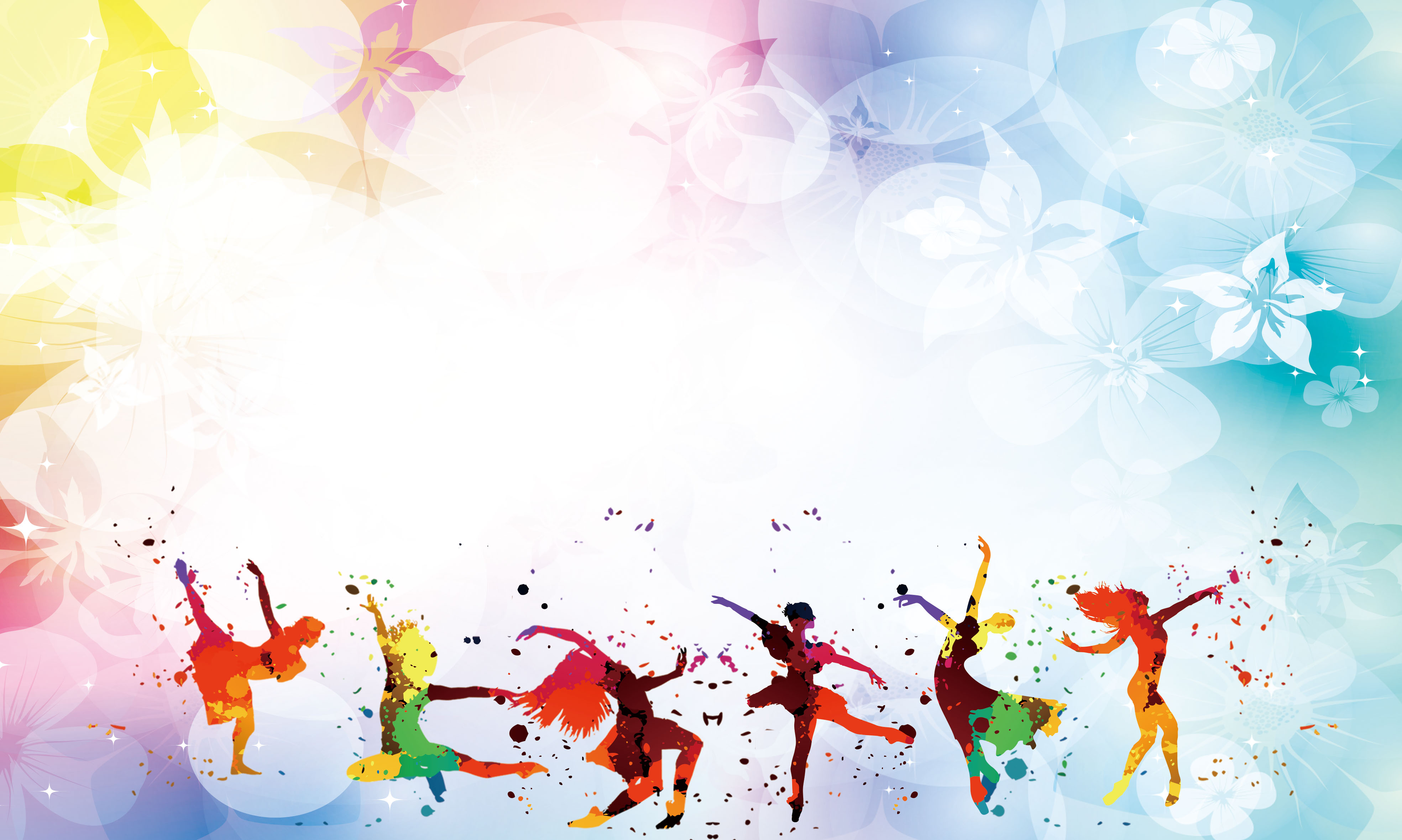 dancer dancing colorful floral background  color  dancing