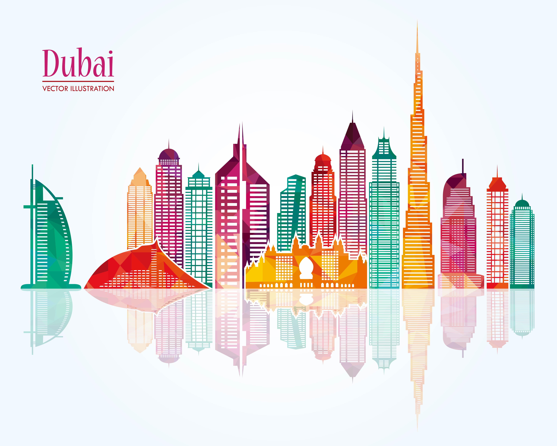 dubai city building background template  city  posters