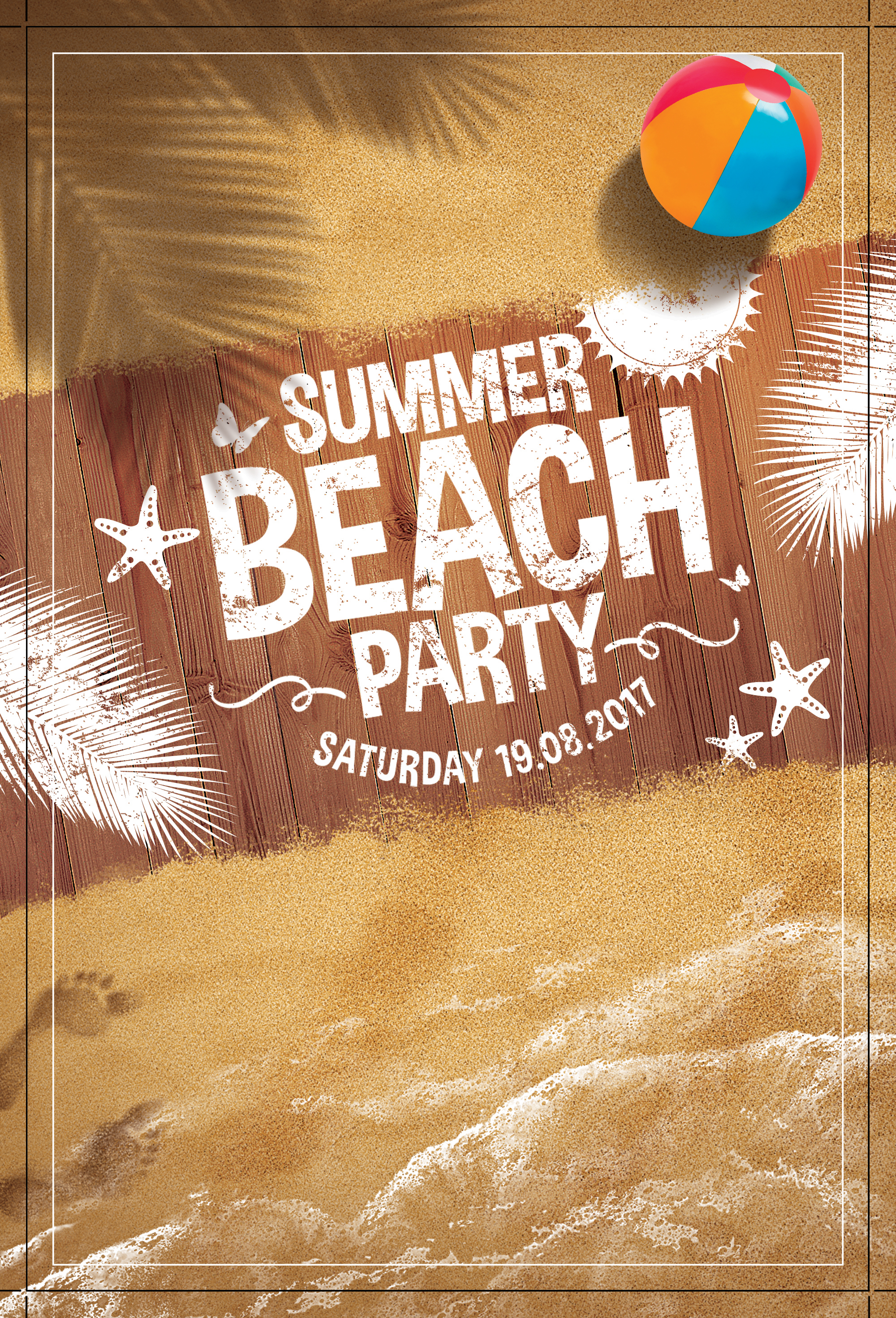 summer beach poster background  great  beach  promotional background image for free download