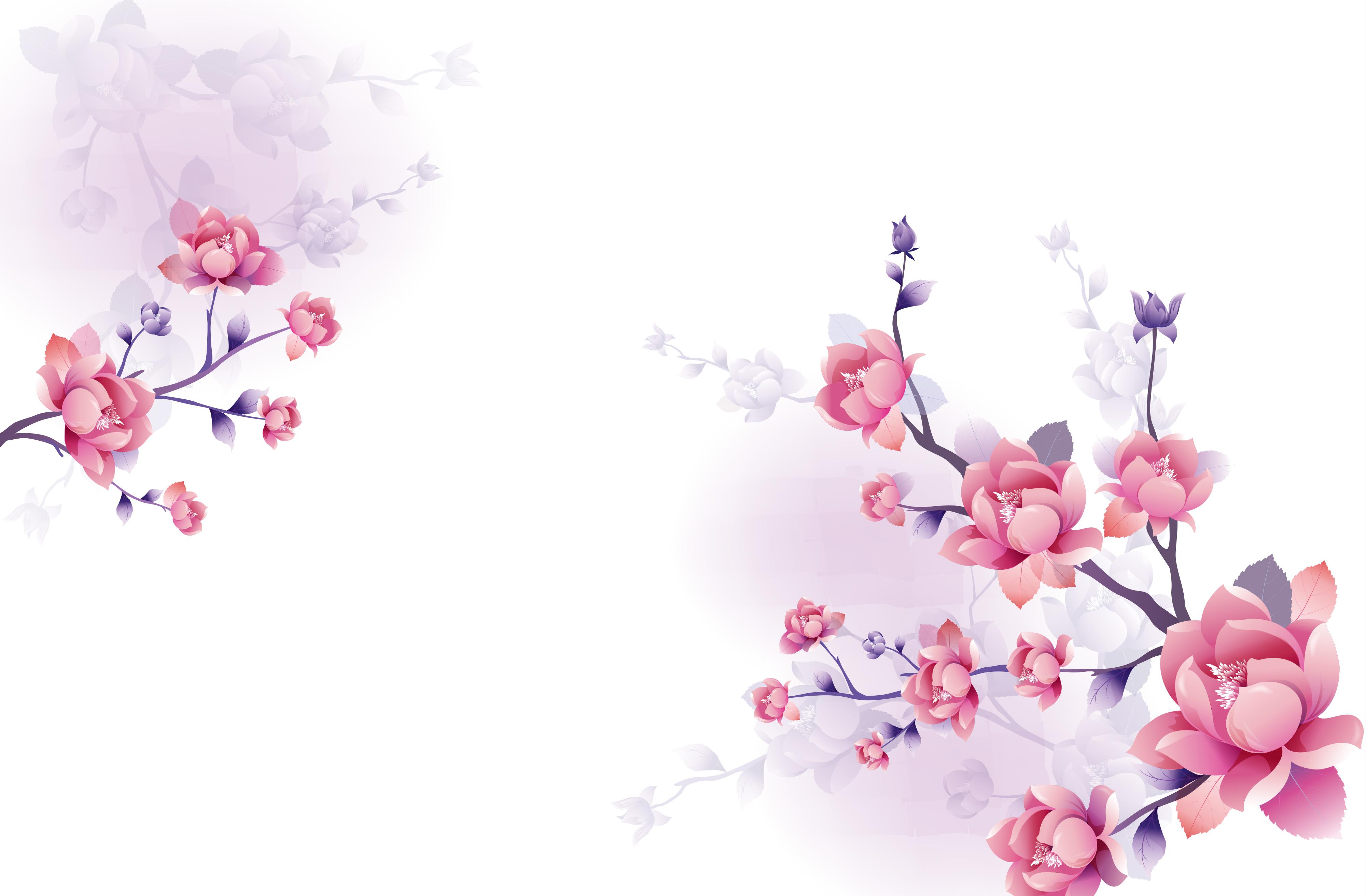 Japanese Rosa Flores Material De Antecedentes Flores