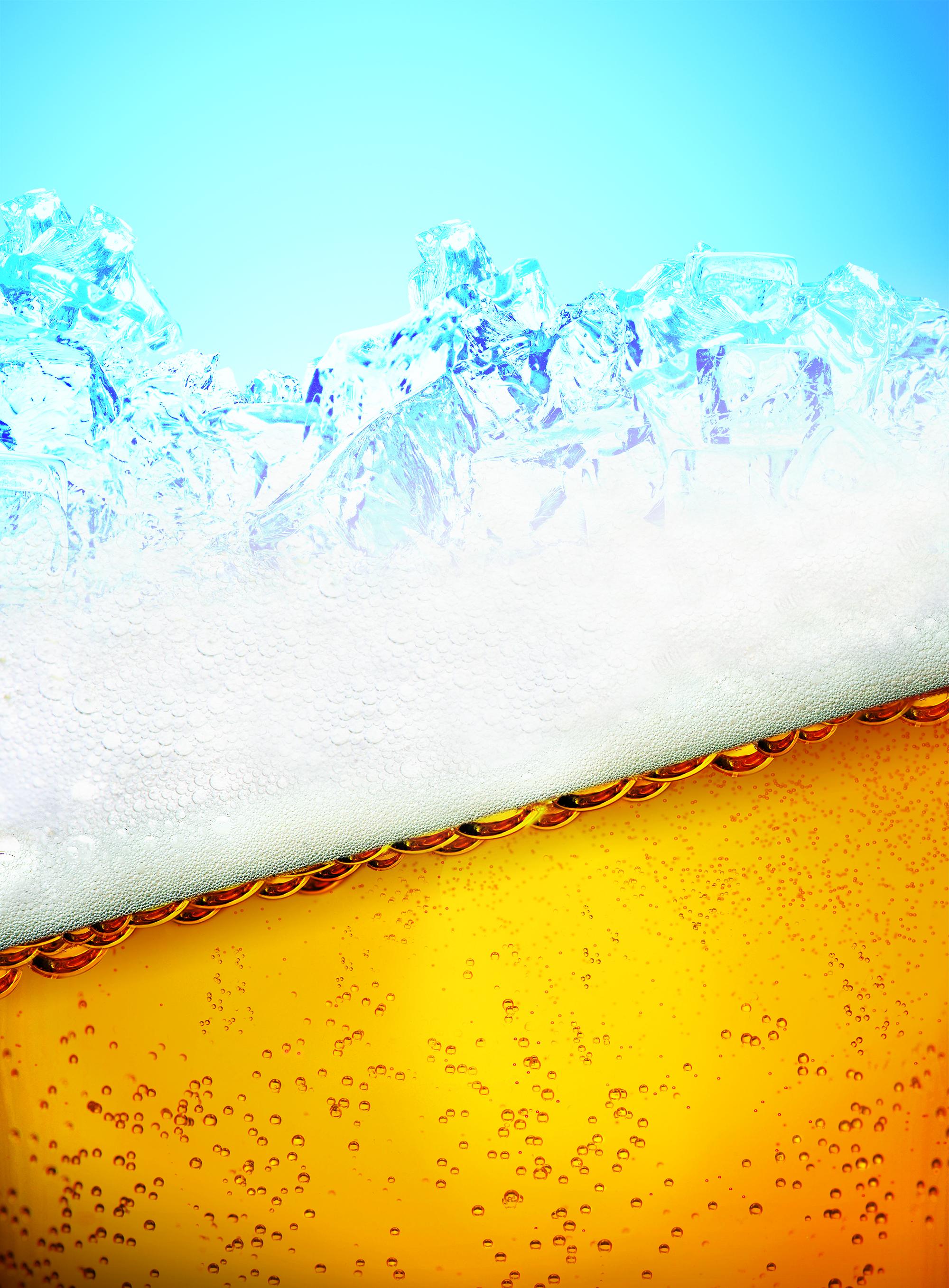 gelado de cerveja material de fundo cool a cerveja golden
