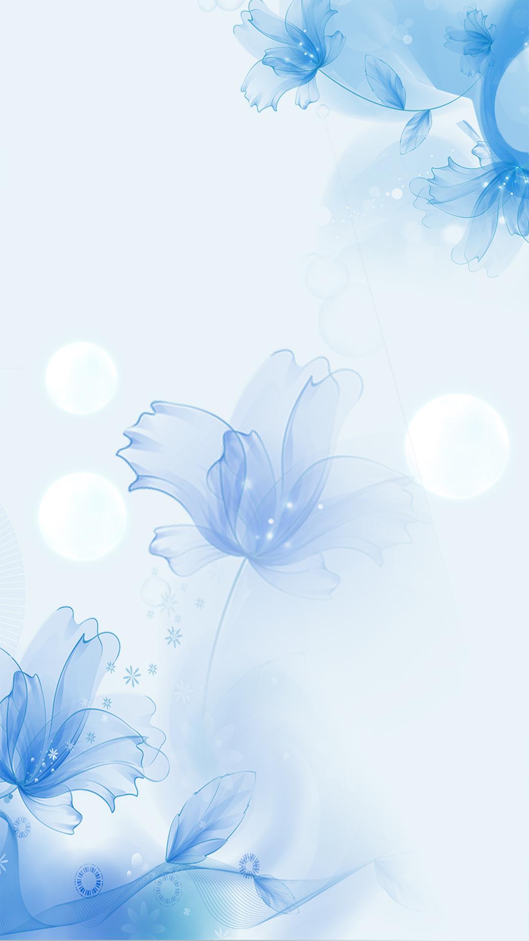 Открытки с голубыми цветами