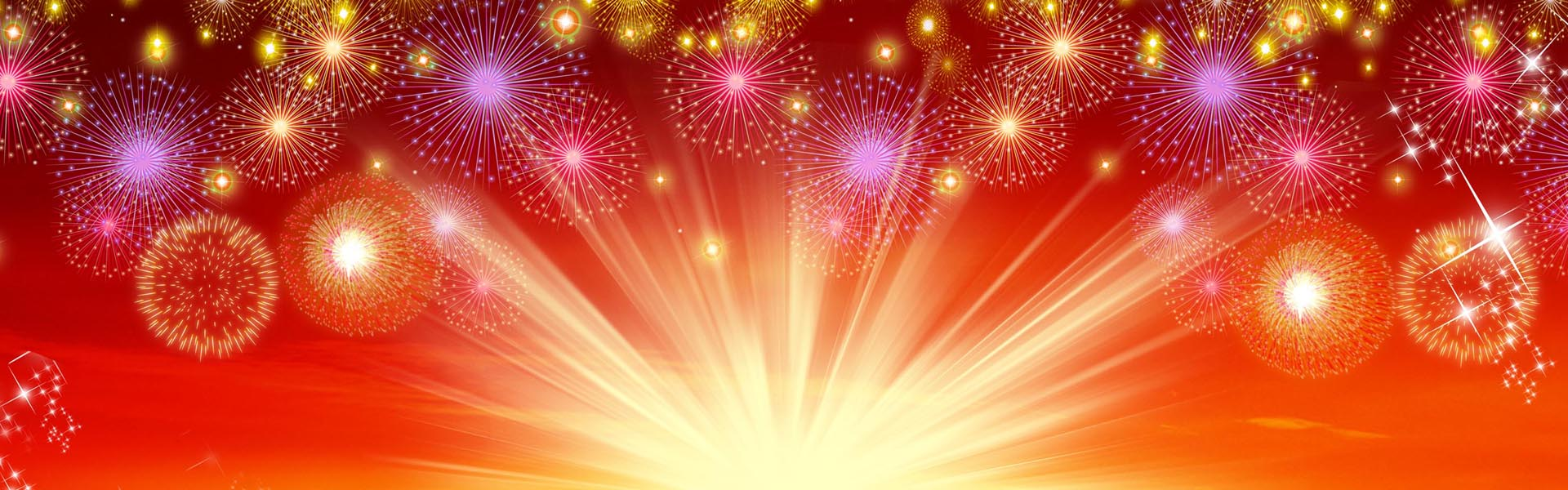 fantasy fireworks light effect background material  banner