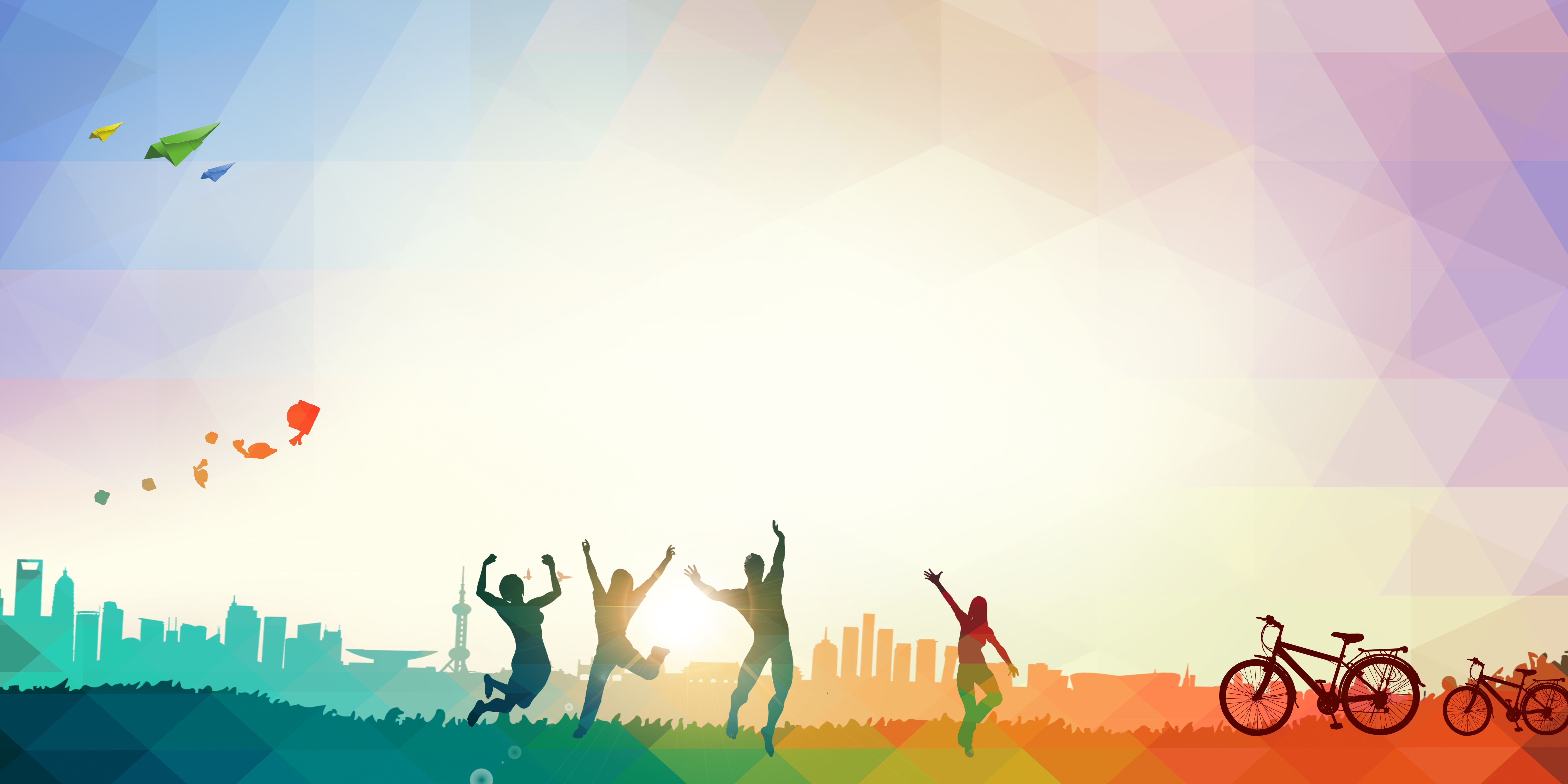 colorful running jump poster background  bright  jump  run