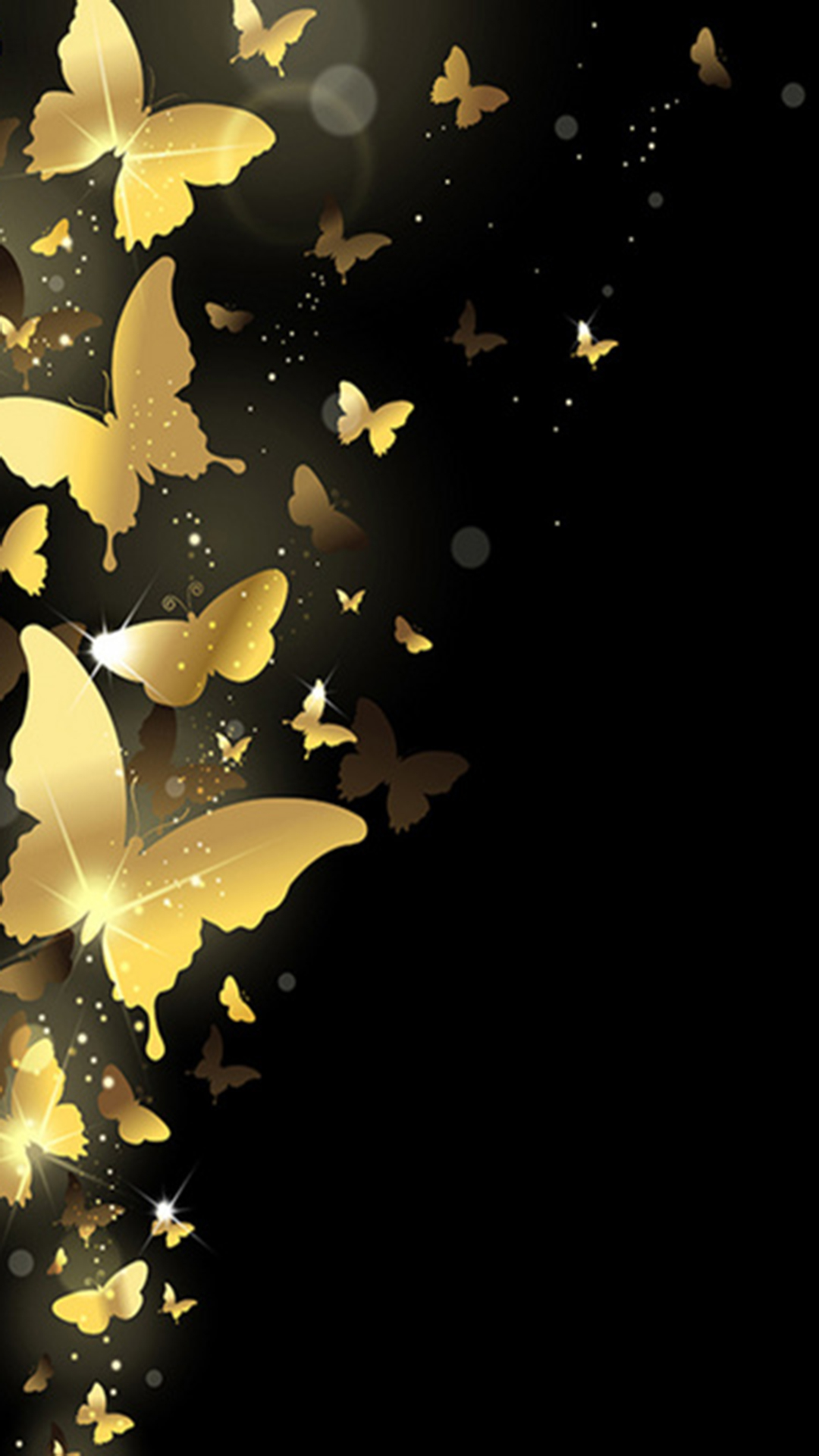 Golden Shine Butterfly H5 Background Material Gold Shine