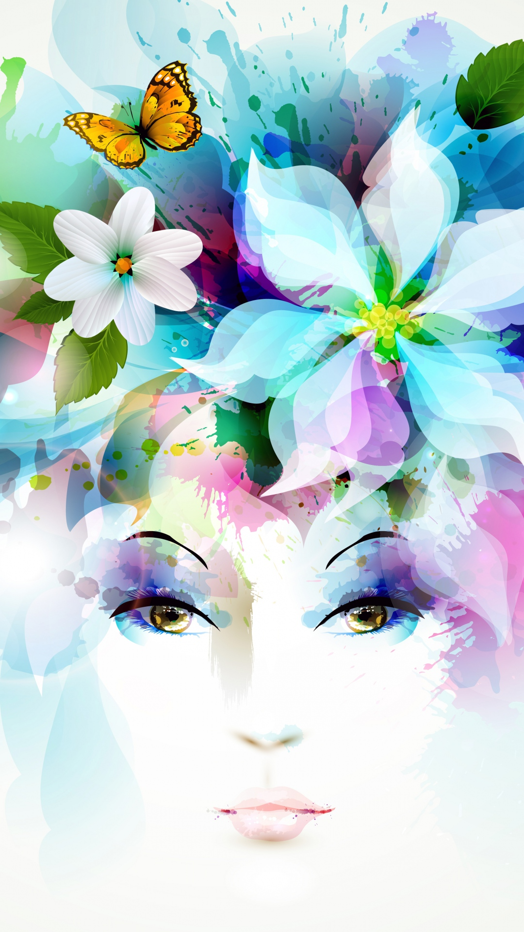 Flowers Background H5 Girls Avatar Head Image For Free Download