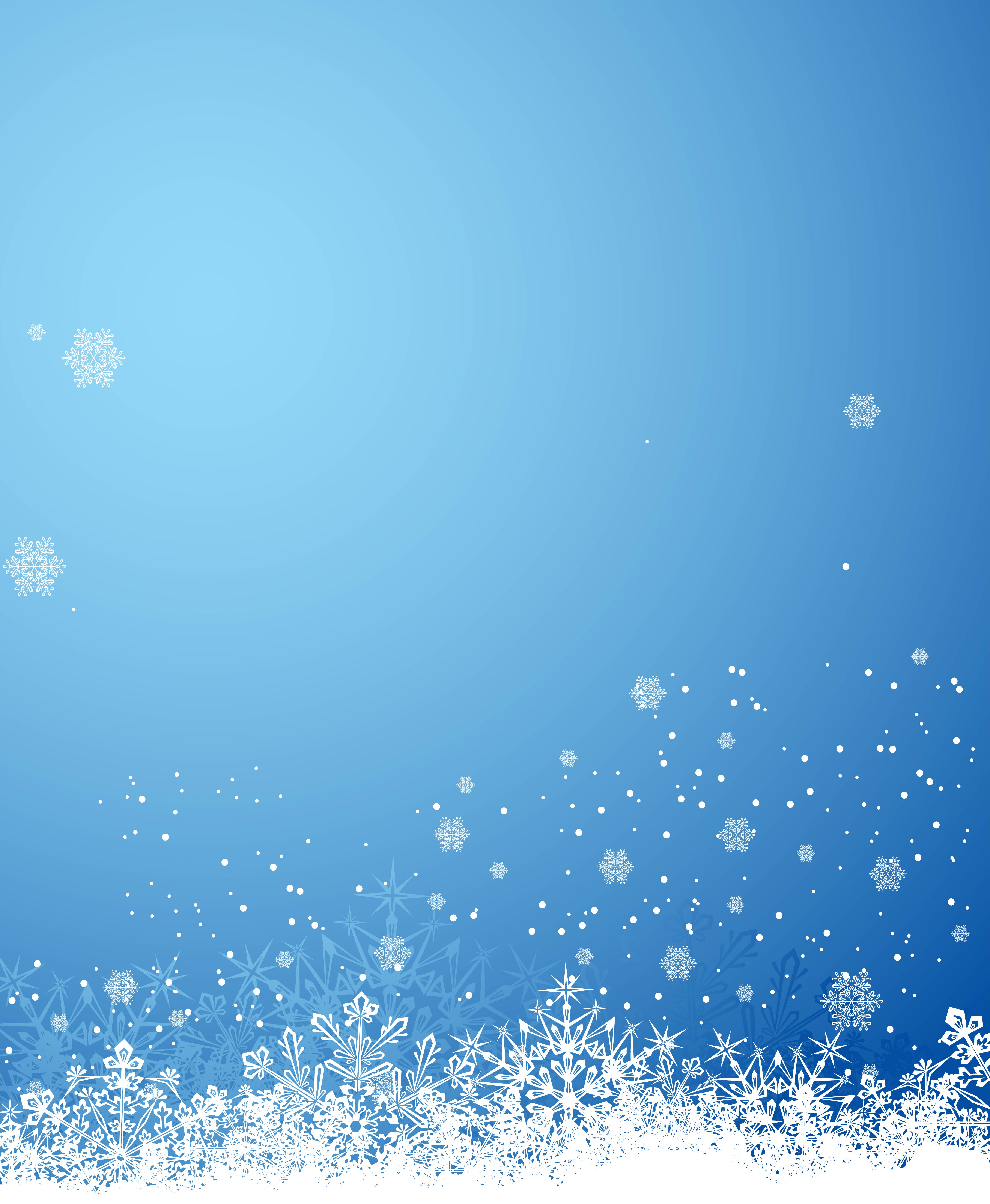 Snowflakes Border Christmas Vector Background Material