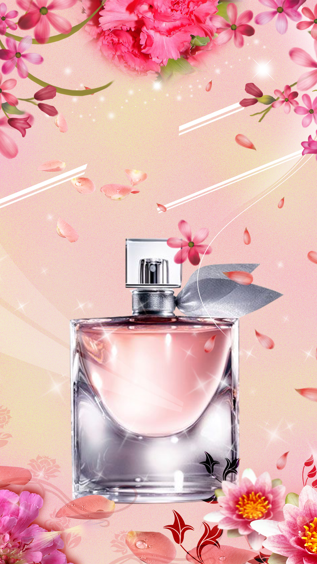Perfume Promotion Psd Layered H5 Background Material Perfume Pink
