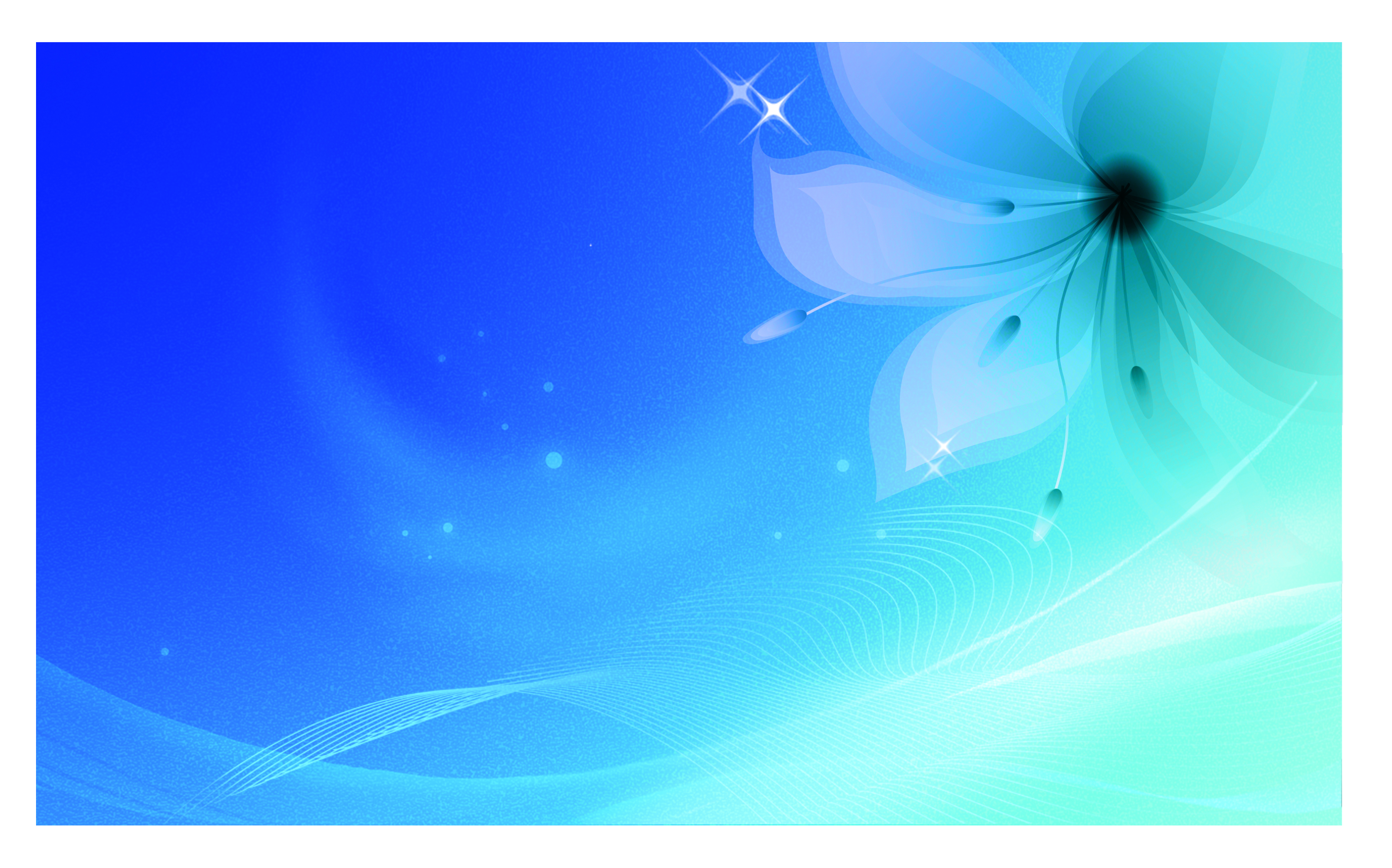 business card background blue flowers line background