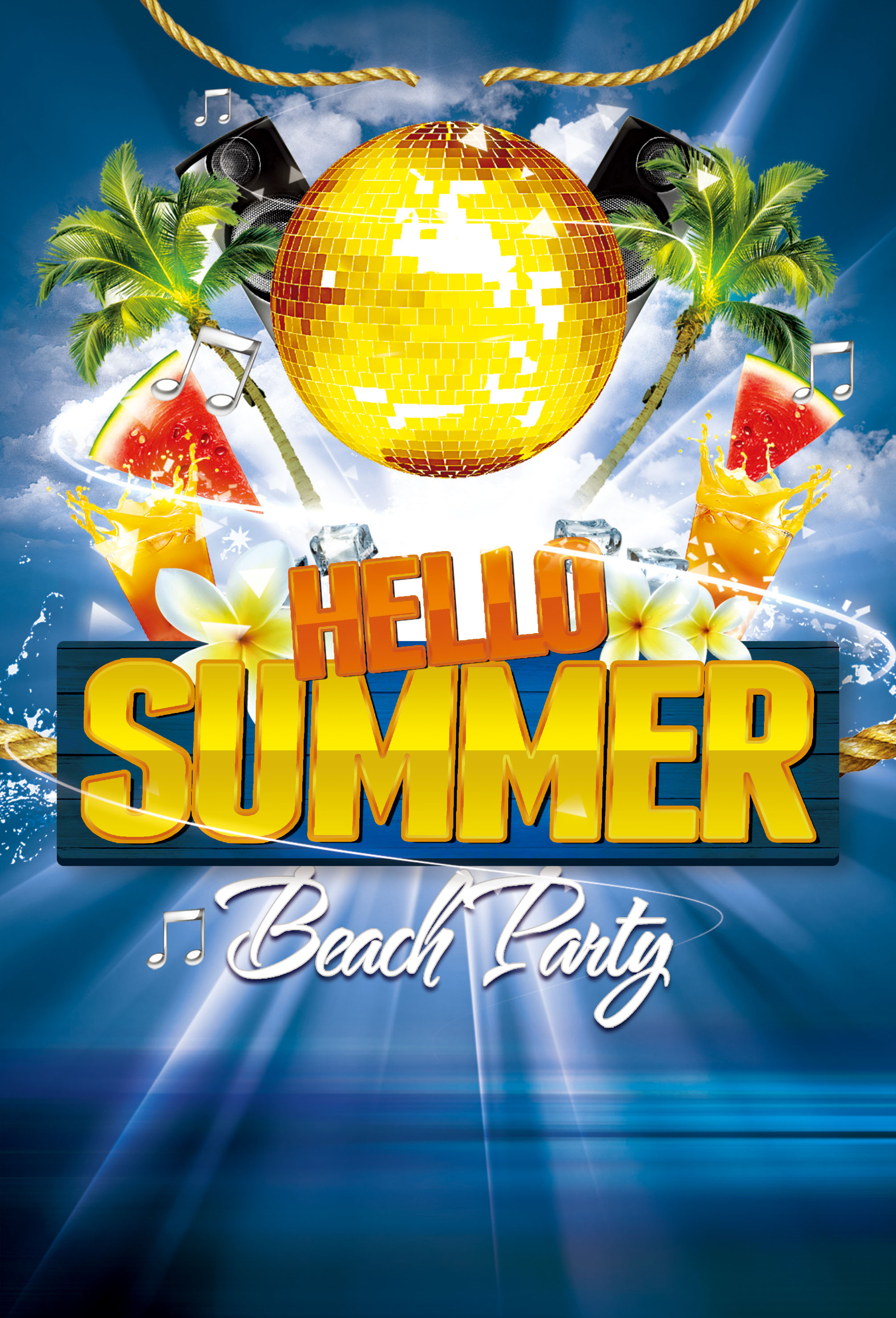 summer party poster background material  summer  party