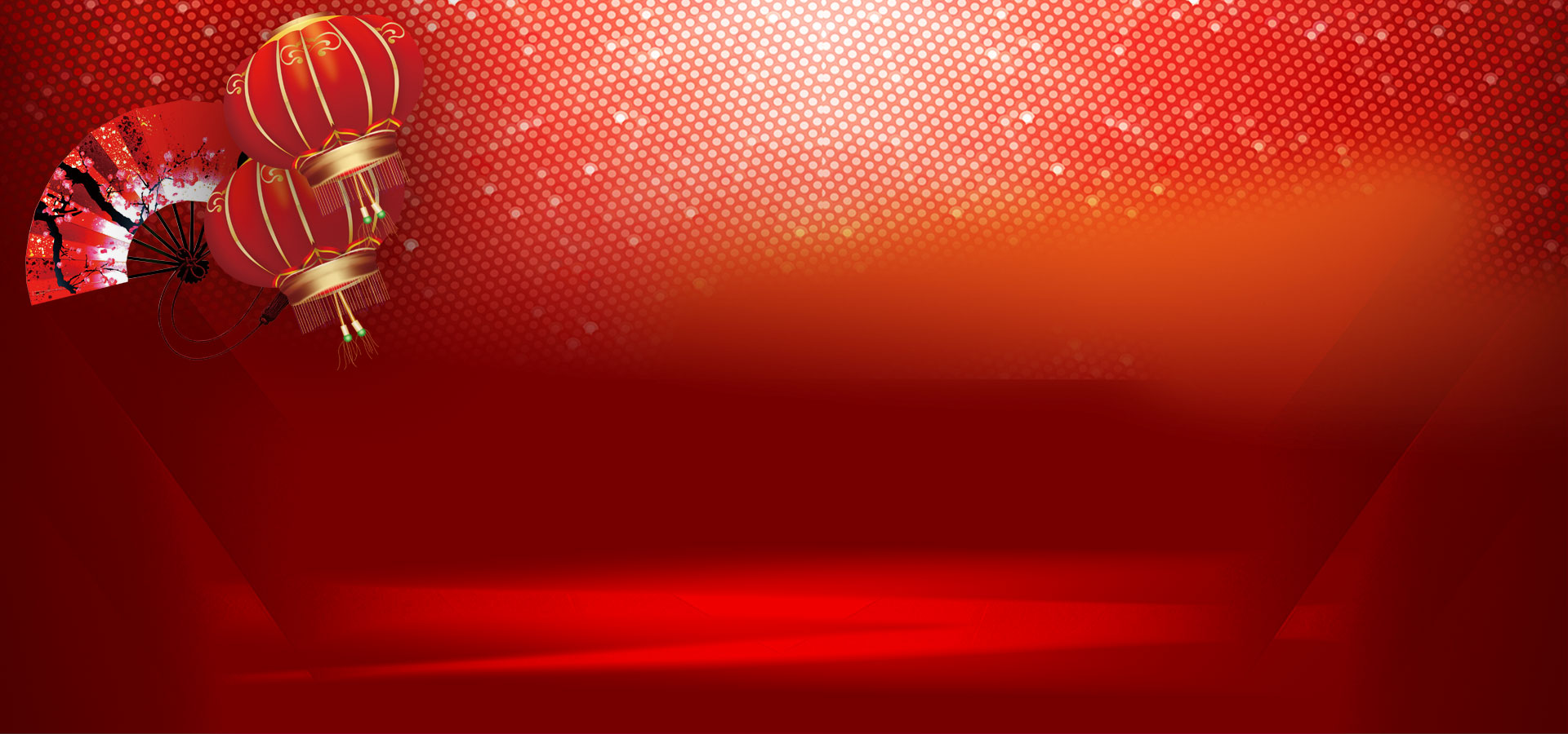 yearend new years day carnival party red banner background
