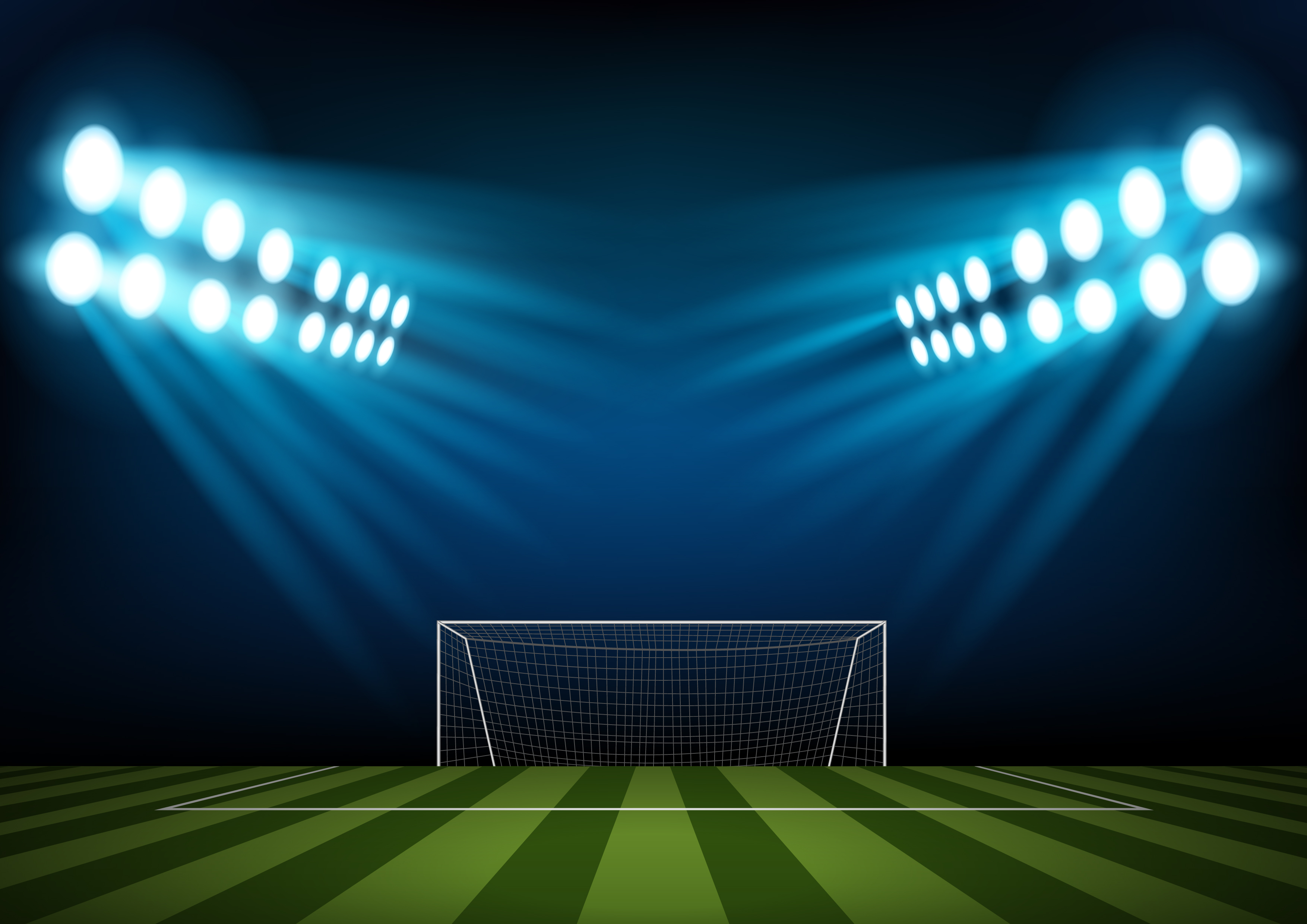Light Soccer Field Sports Background Material Light Football Field Background Image For Free