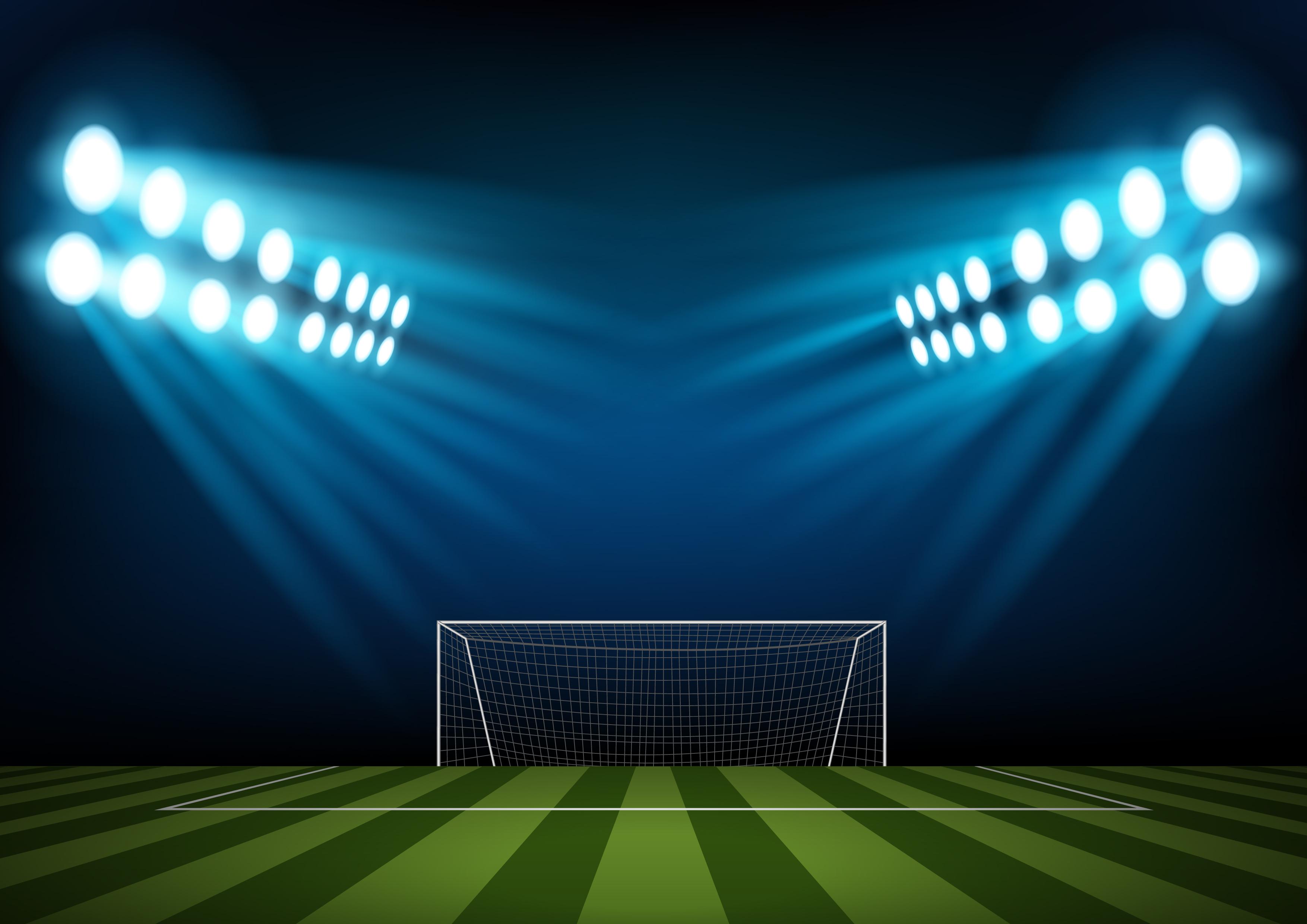 light soccer field sports background material  light