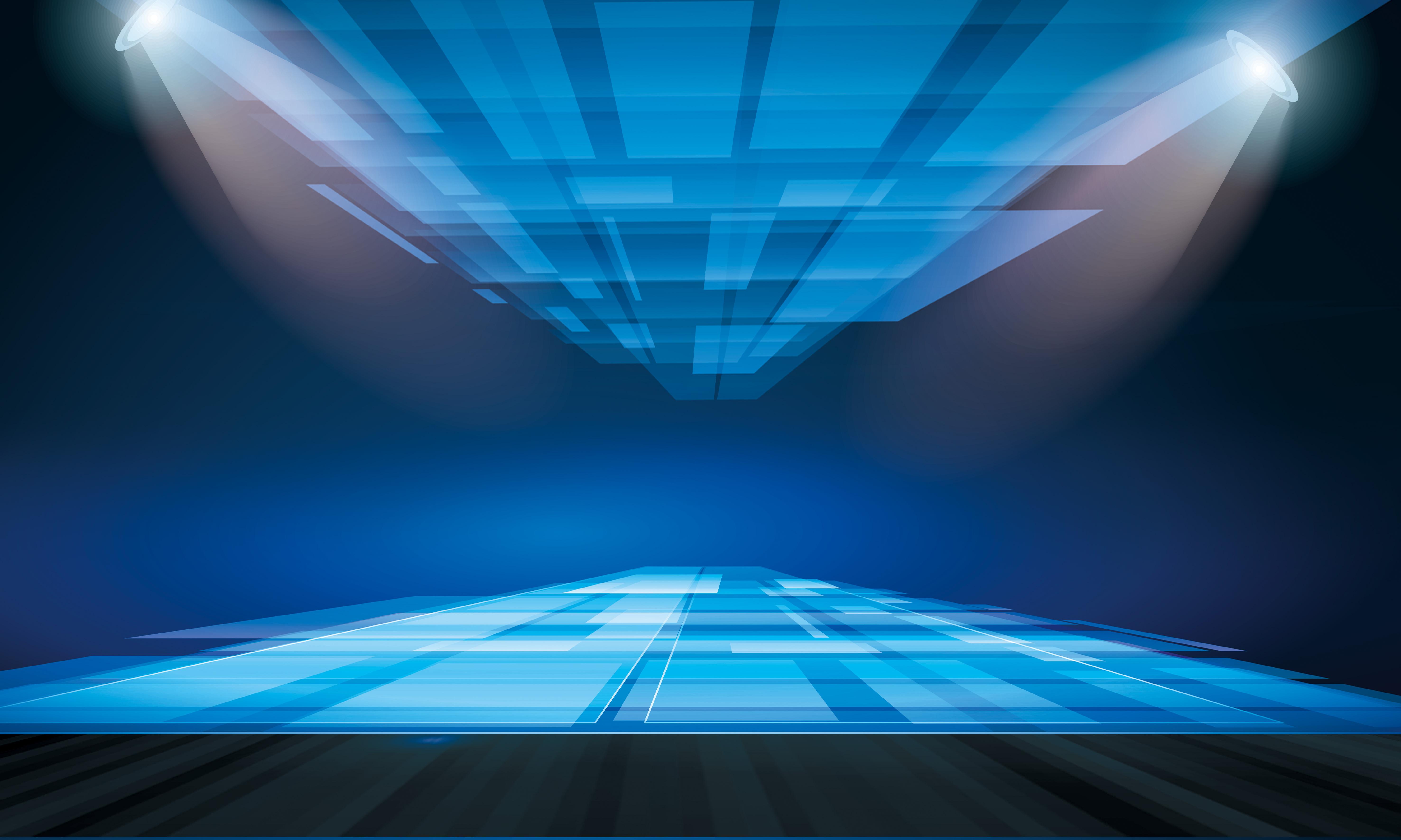 coche azul para promover su material de antecedentes