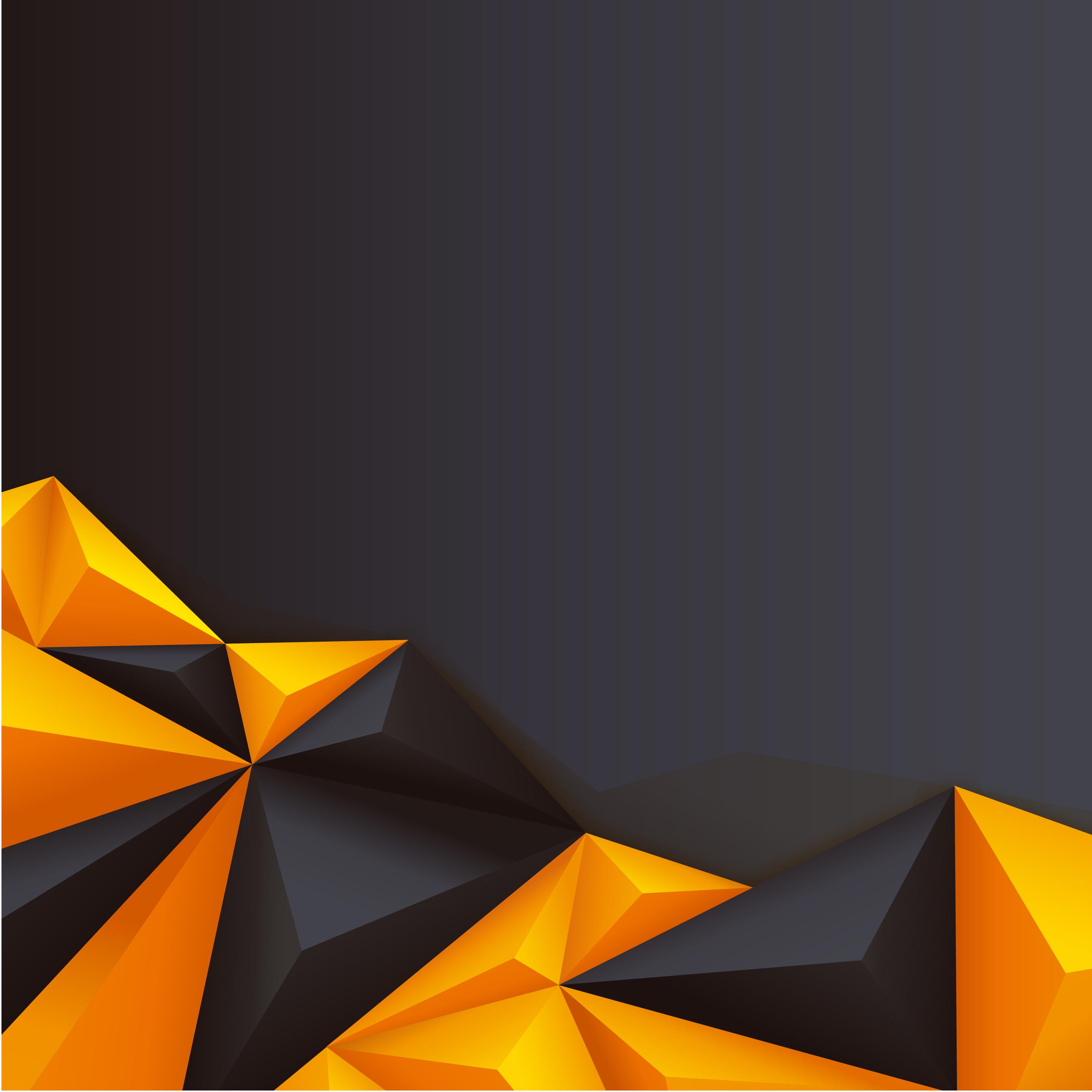 geometria s u00f3lida de material de fundo preto amarelo