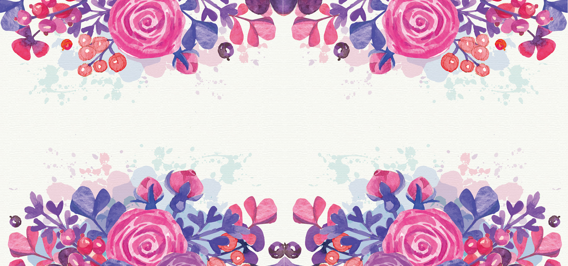 hd fashion flowers background material formwork design