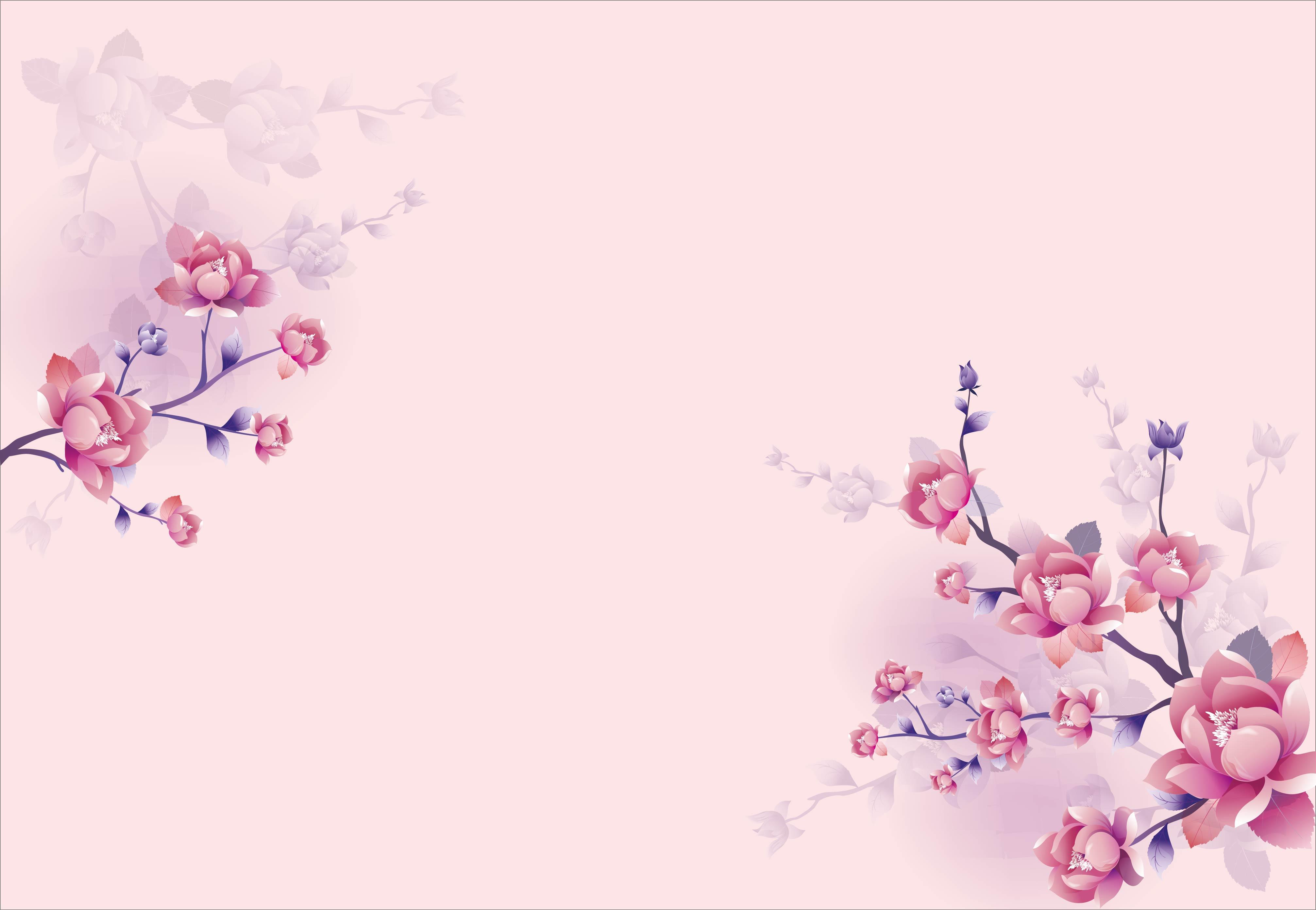 Il Vettore Di Fiori Rosa Antico Contesto Materiale Vettore Rosa