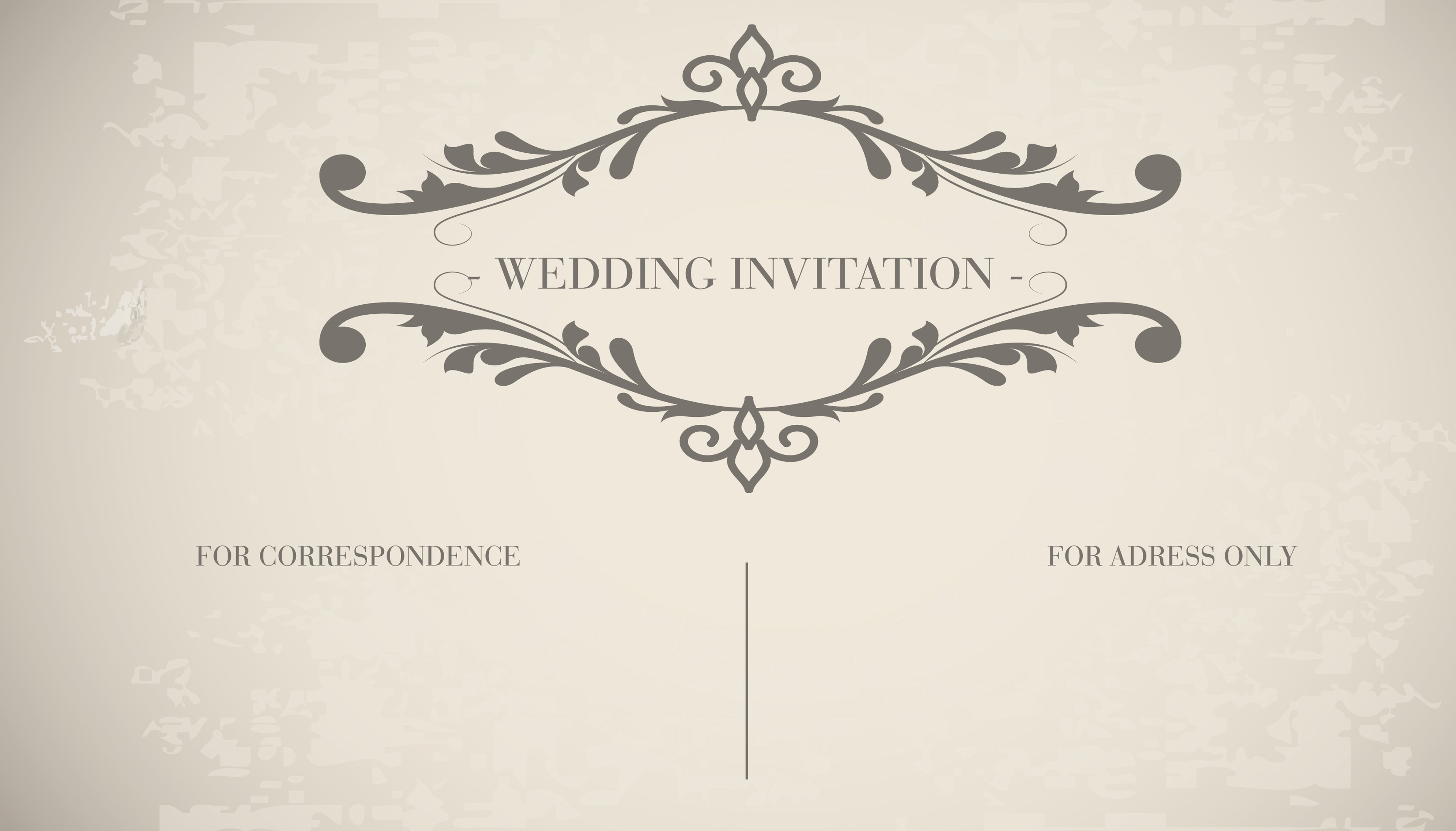 vintage wedding card invitation card decorative patterns