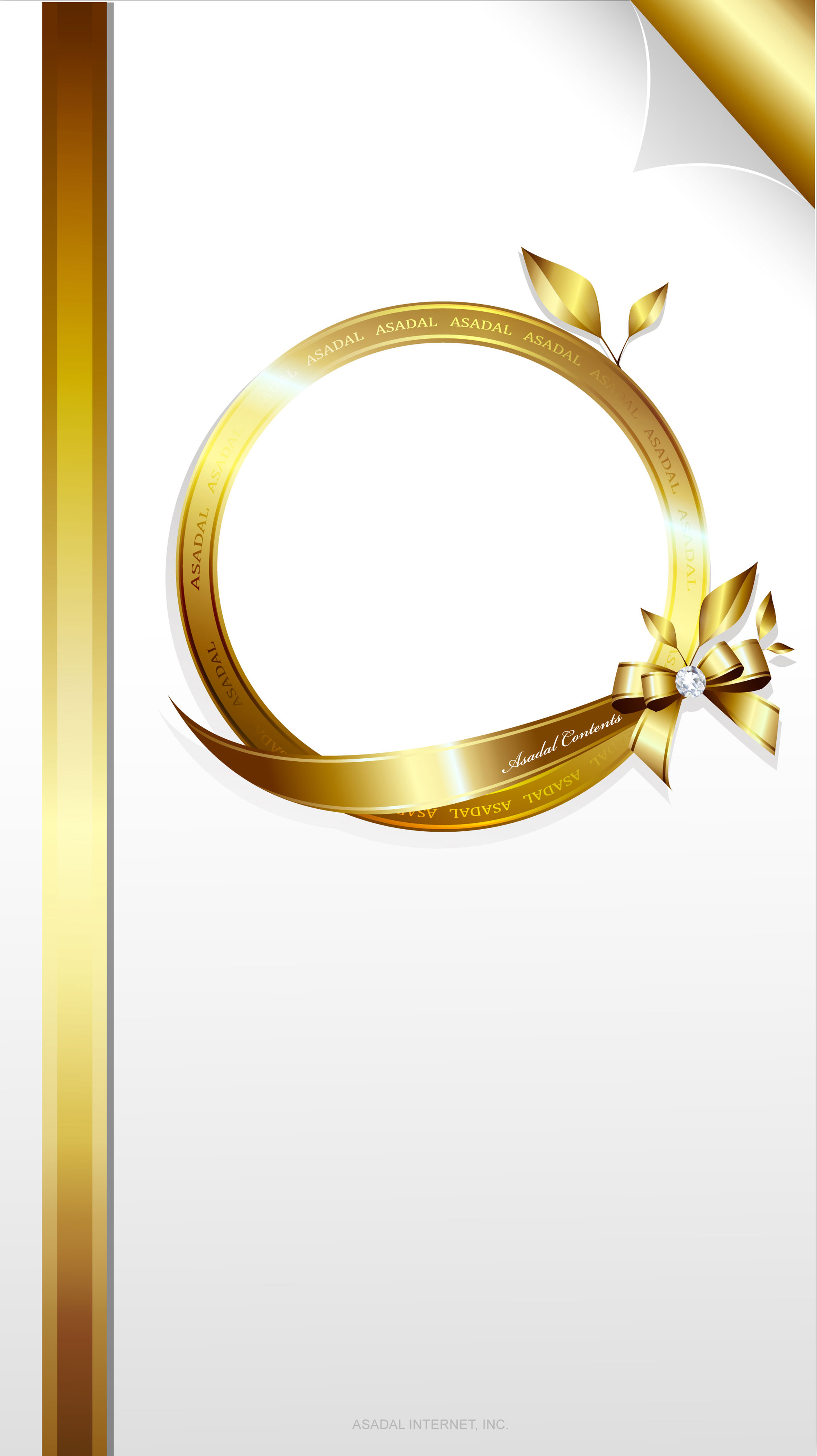 gold ribbon decoration invitation card background  gold
