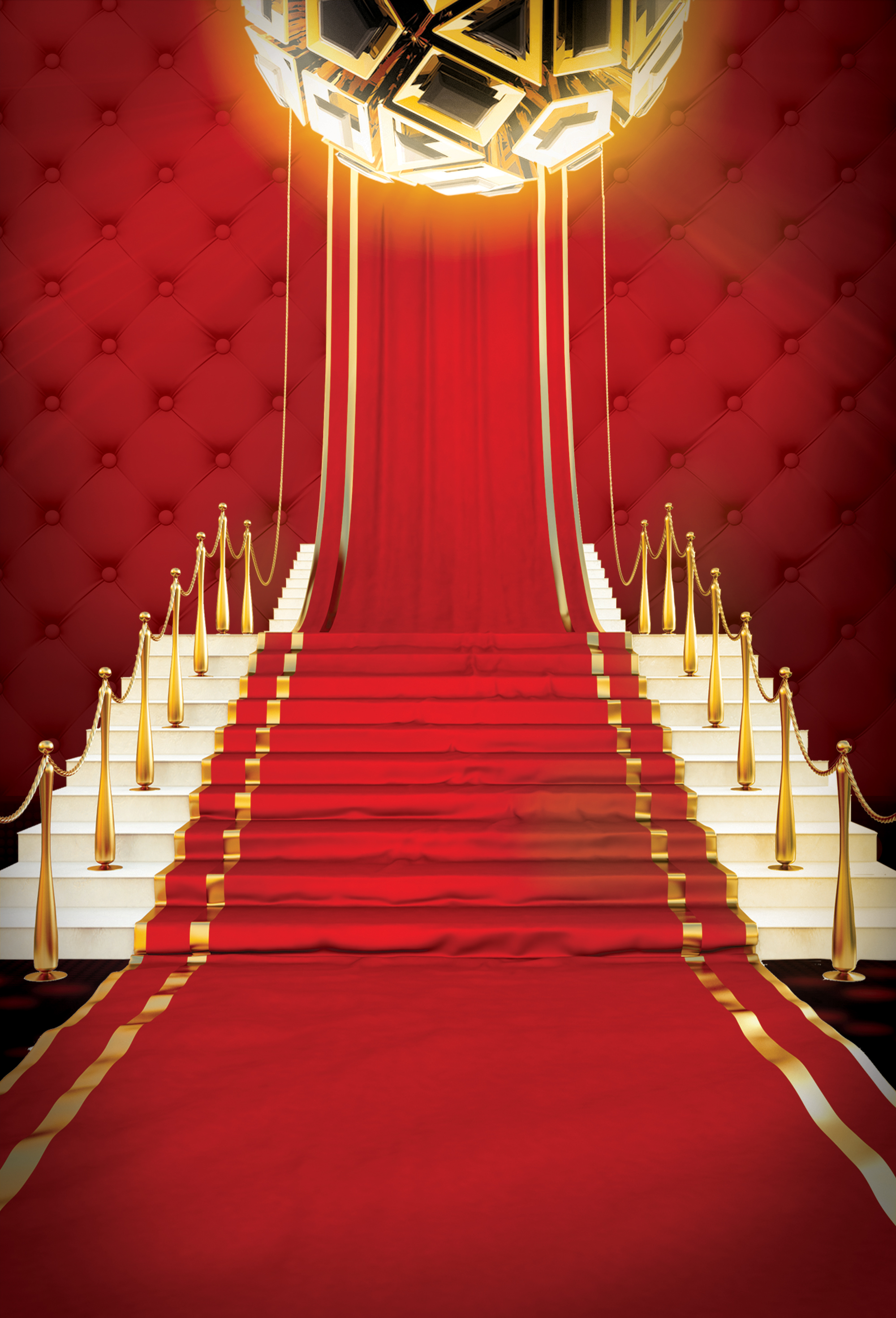 poster background festive atmosphere  red  carpet  joyous