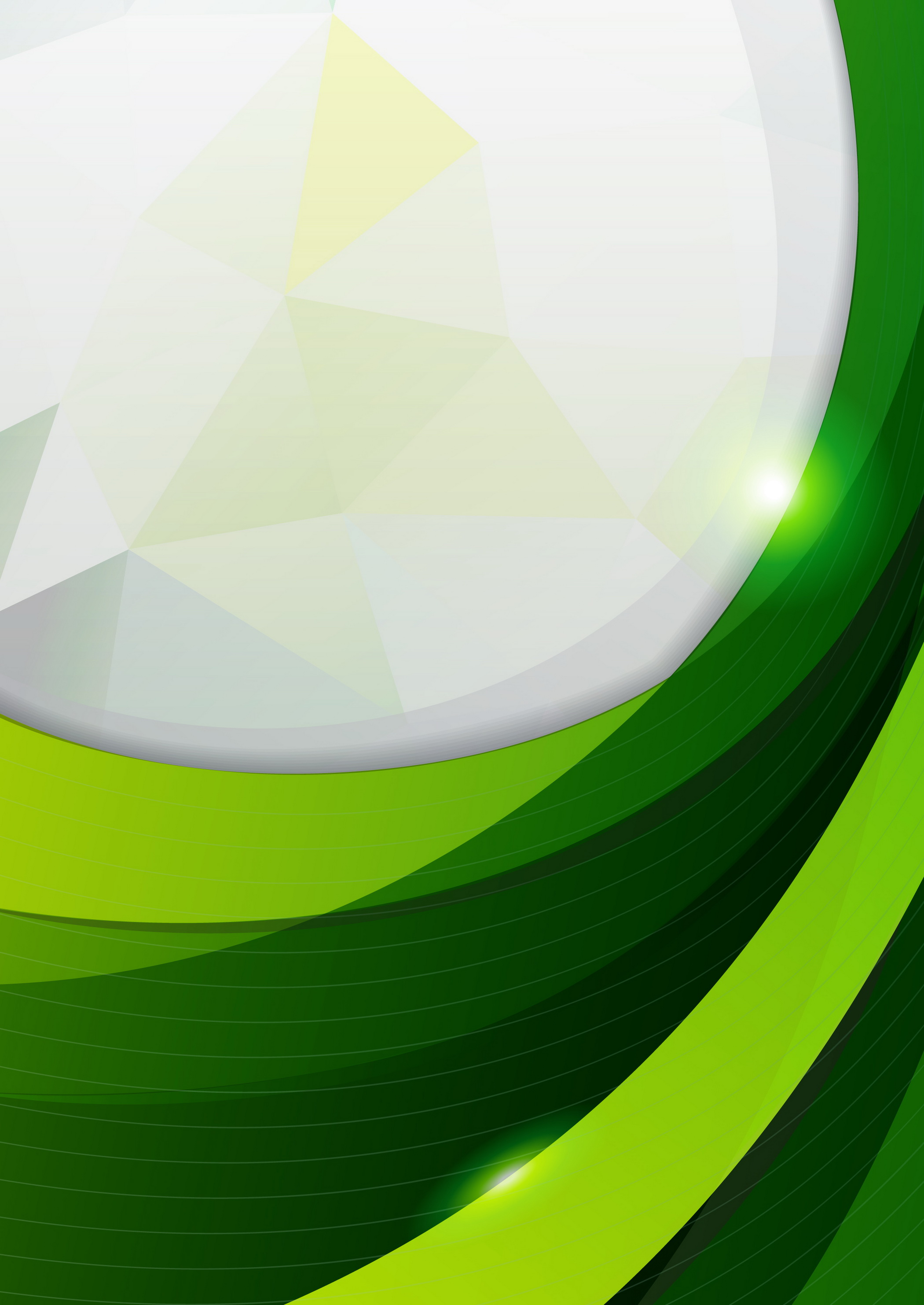 Simple Abstract Green Background Curve Foil Texture