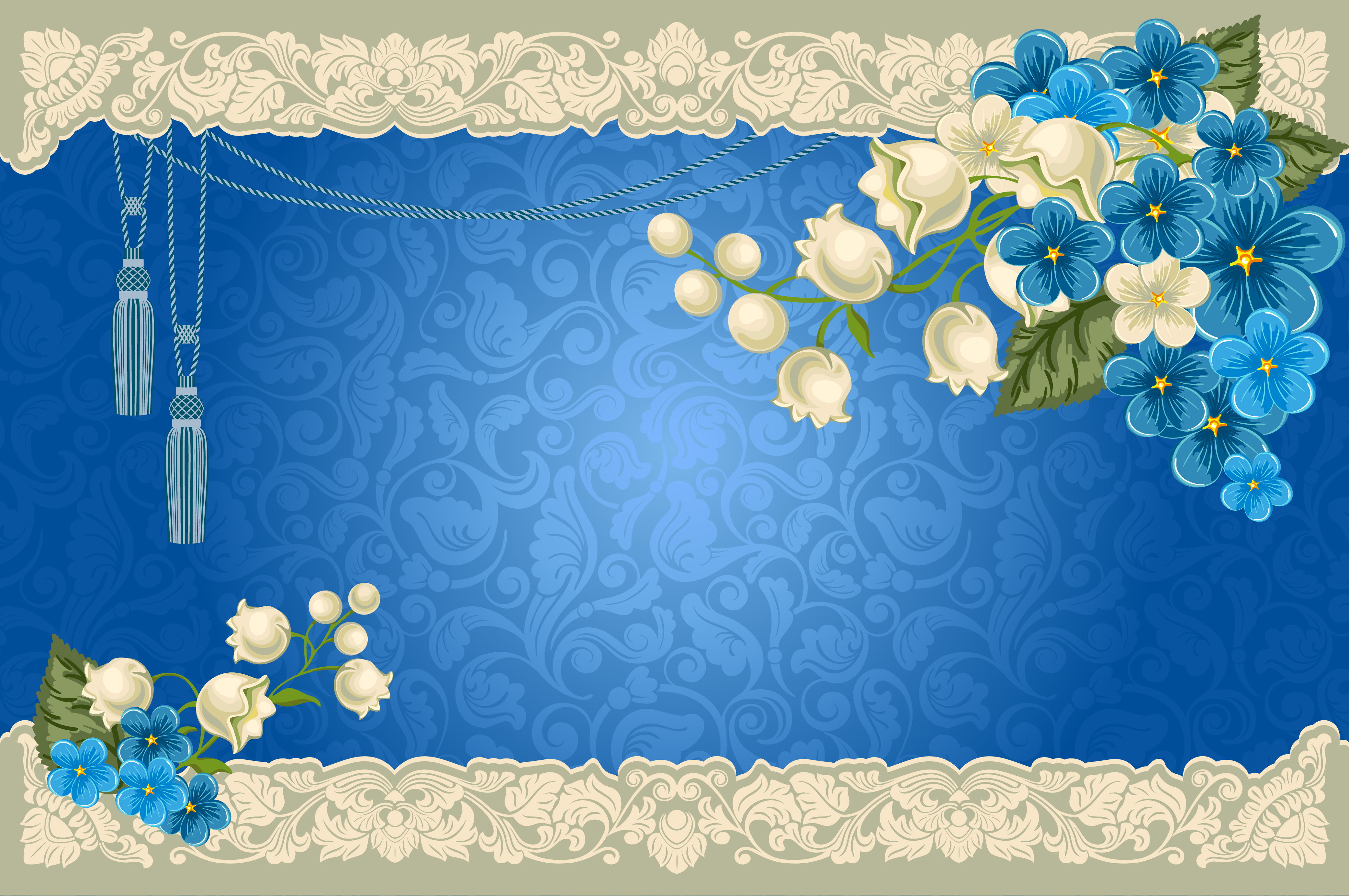 paisley floral azul fronteira background decora u00e7 u00e3o floral cart u00e3o de convite flower frame imagem