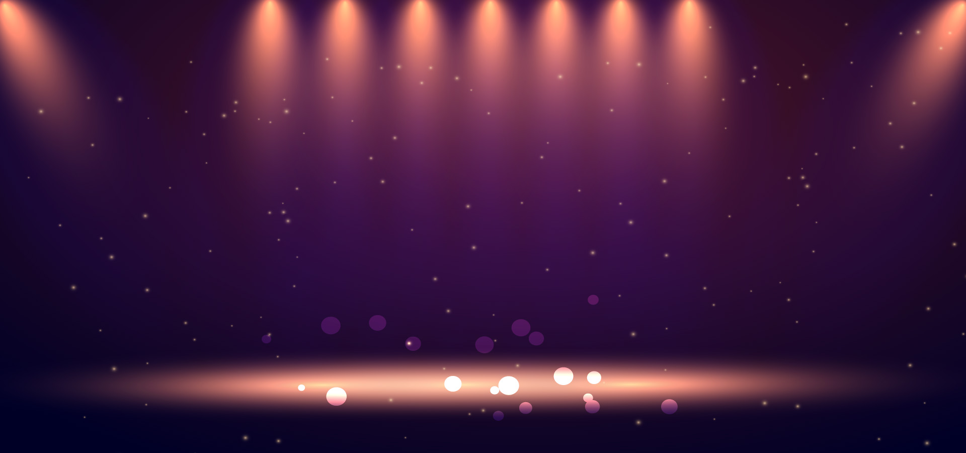atmospheric lighting stage purple gradient background