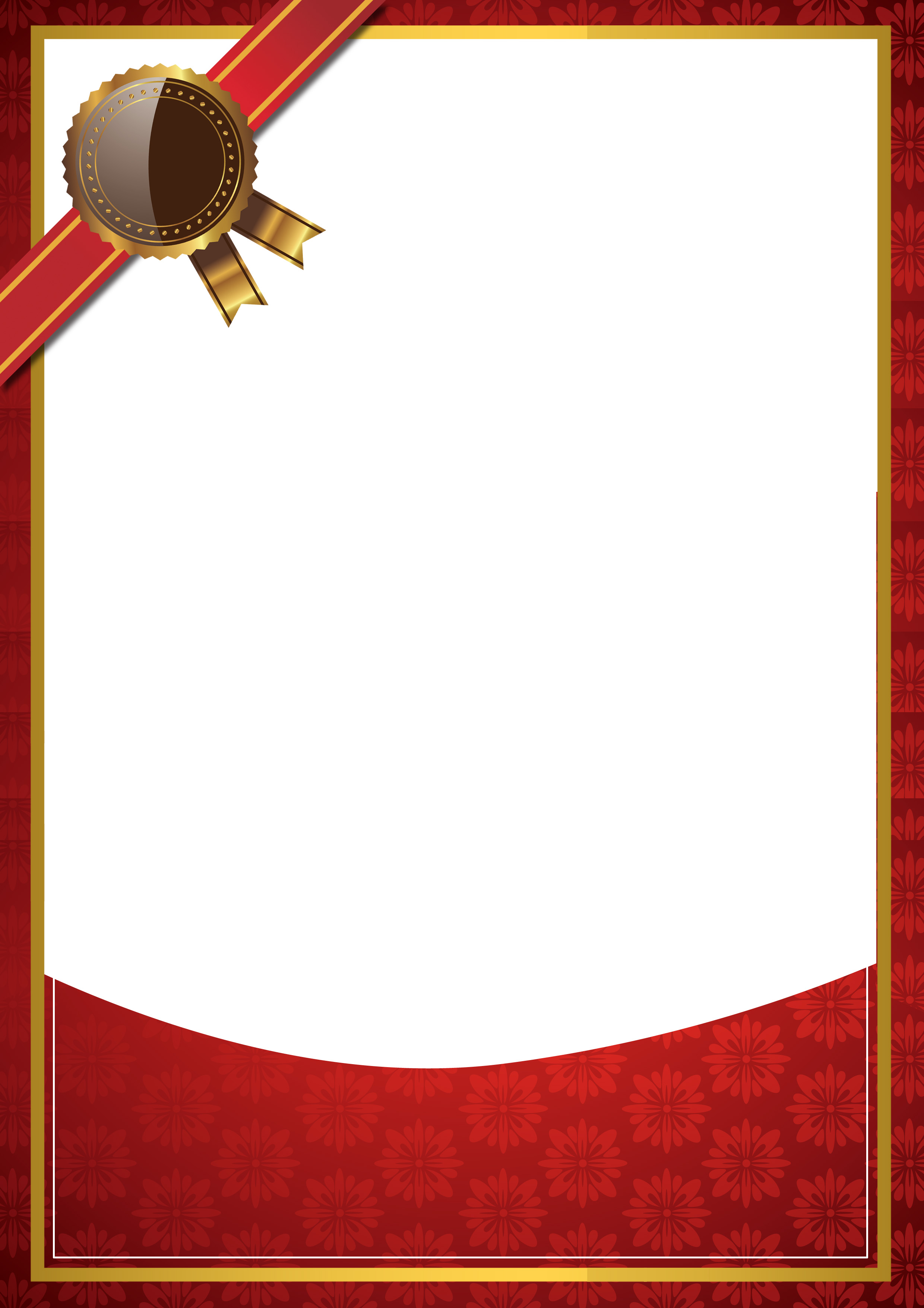 simple red background border certificate  simple  red