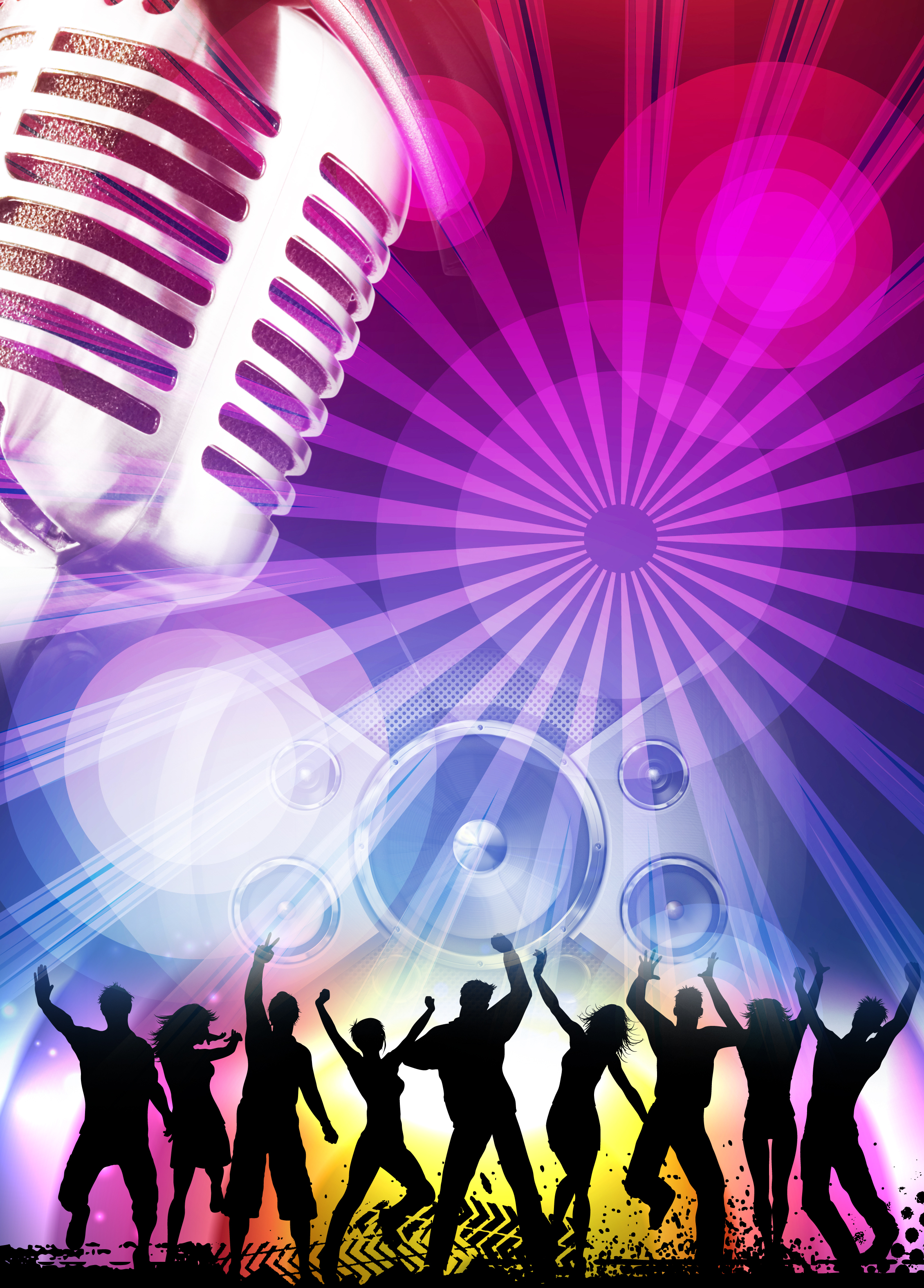 music poster background material  music  dream  creative background image for free download