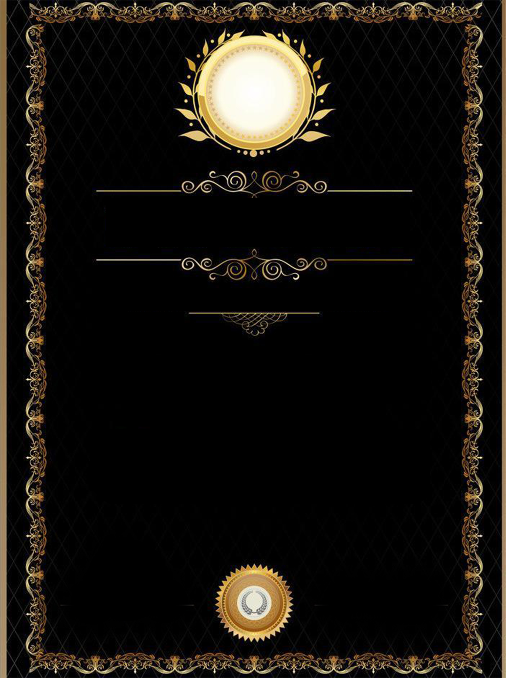 Certificate Certificates Gold Frame