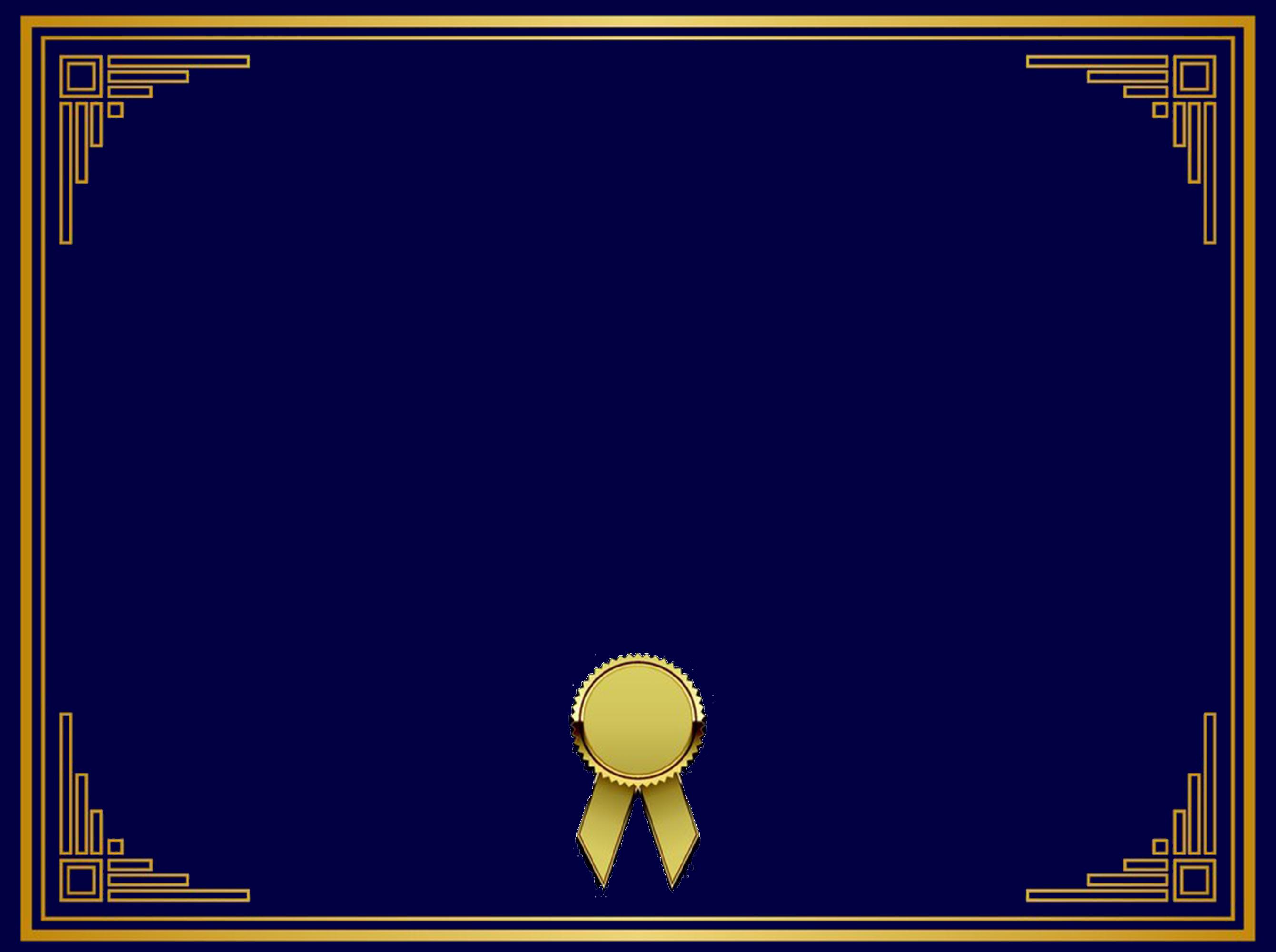 or  la bordure de fond en mati u00e8re de certificats bleu fonc u00e9  cadre d u0026 39 or  bleu fonc u00e9 d u0026 39 ombrage